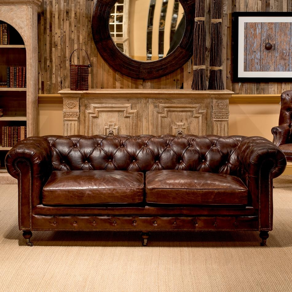 "89"" Long Dino Chesterfield Sofa Seater Wood Legs Casters Handmade With Regard To Casters Sofas (Image 2 of 20)"