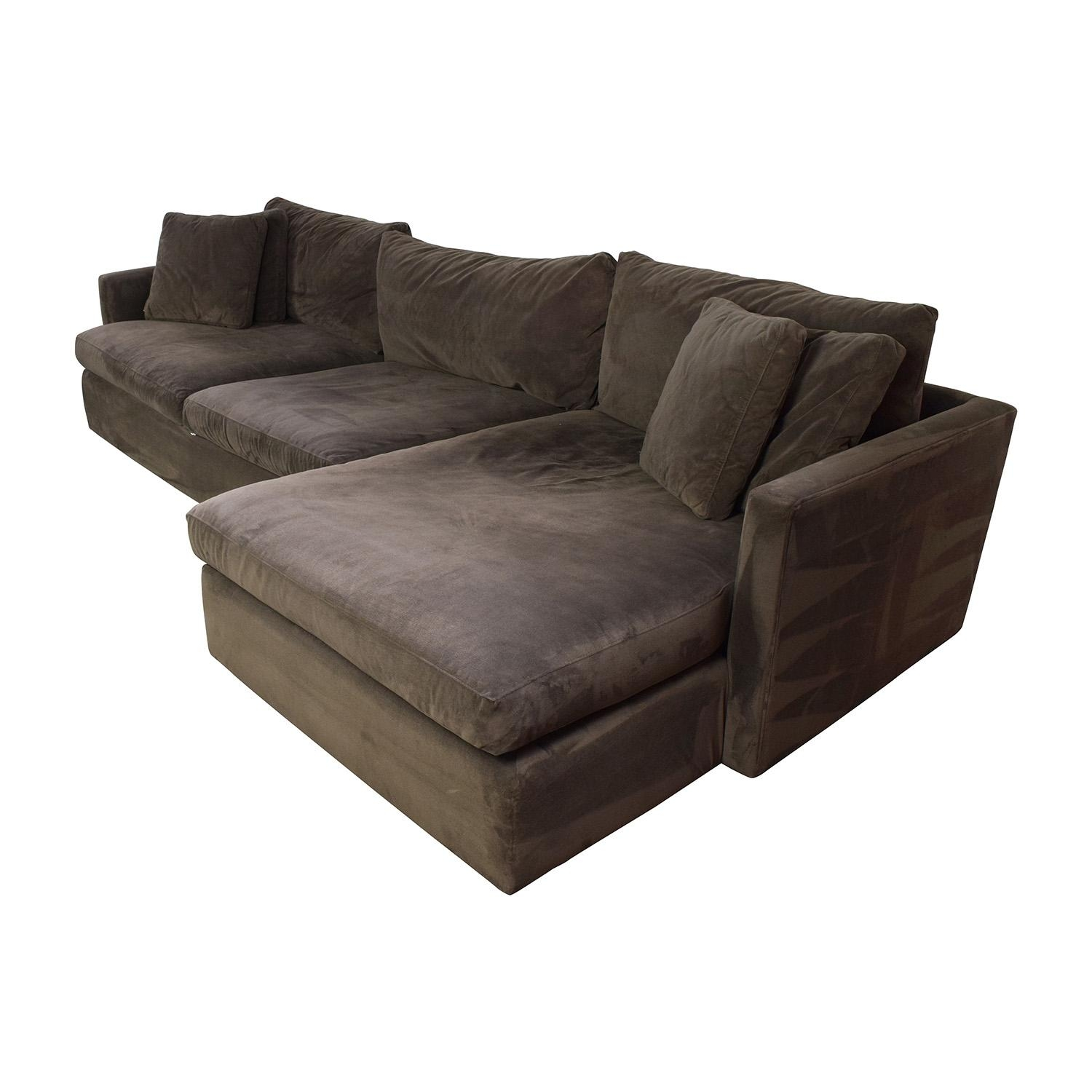 89% Off – Crate And Barrel Crate & Barrel Brown Left Arm Sectional Within Sectional Crate And Barrel (Image 9 of 20)