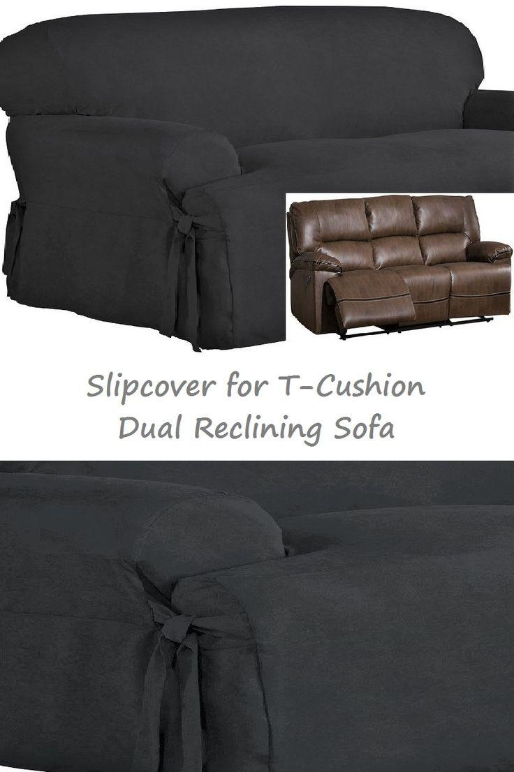 96 Best Slipcover 4 Recliner Couch Images On Pinterest | Recliners Regarding Suede Slipcovers For Sofas (Image 1 of 20)