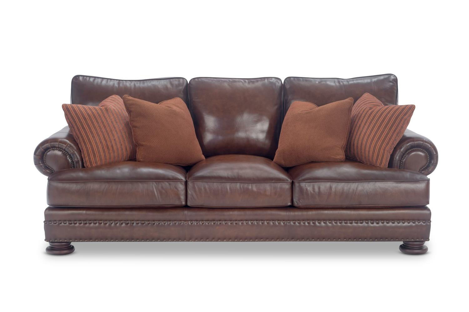98″ Foster Elite Leather Sofabernhardt | Hom Furniture With Regard To Foster Leather Sofas (Image 1 of 20)