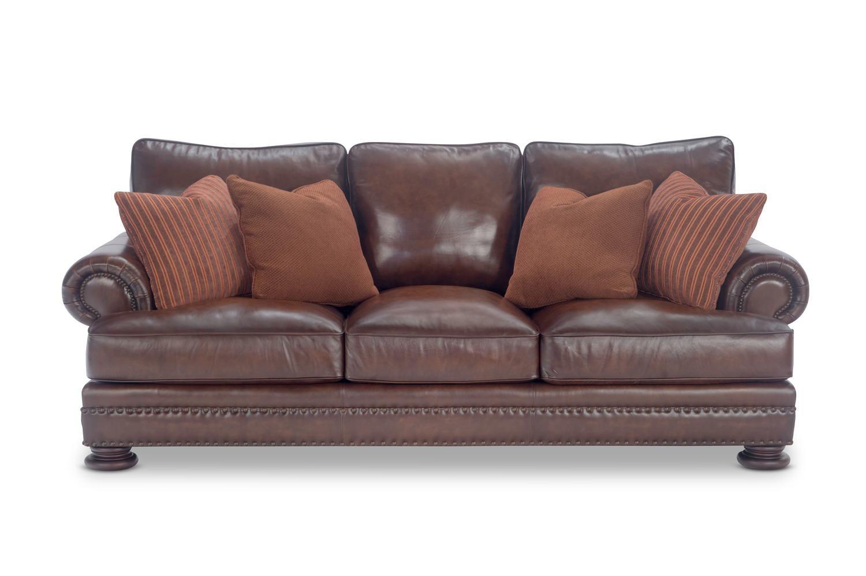 98″ Foster Elite Leather Sofabernhardt | Hom Furniture with regard to Foster Leather Sofas