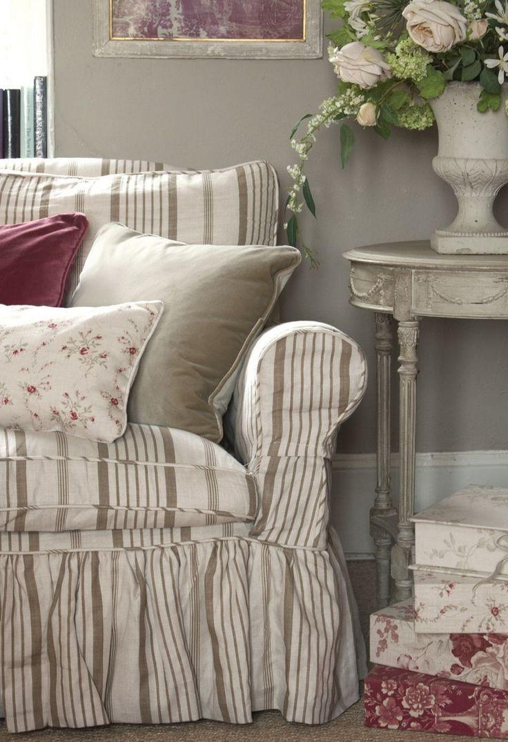 99 Best Slipcover Couches Images On Pinterest | Living Spaces Throughout Shabby Chic Sofa Slipcovers (View 17 of 20)