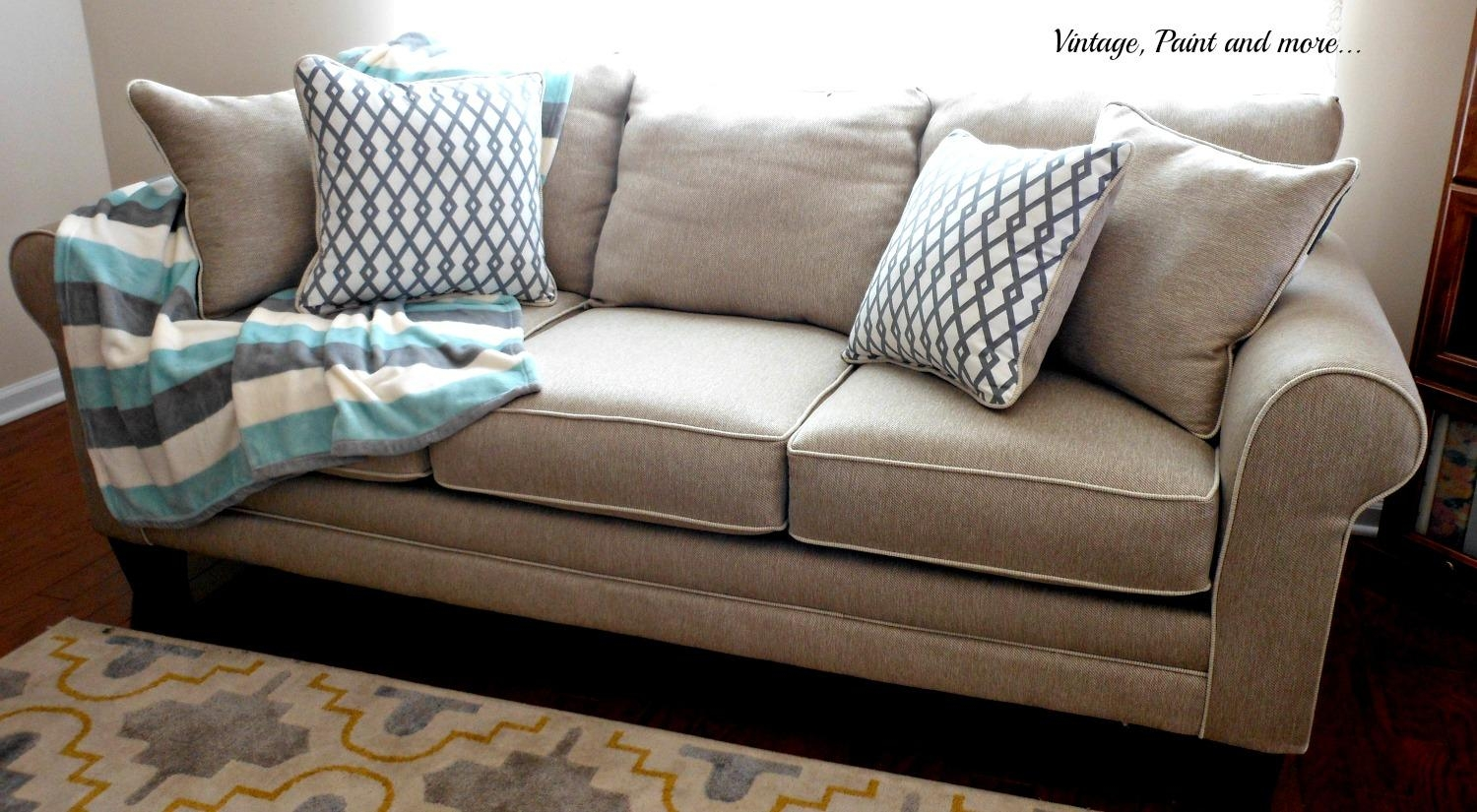 A New Sofa | Vintage, Paint And More Inside Sofa Accessories (Image 1 of 20)