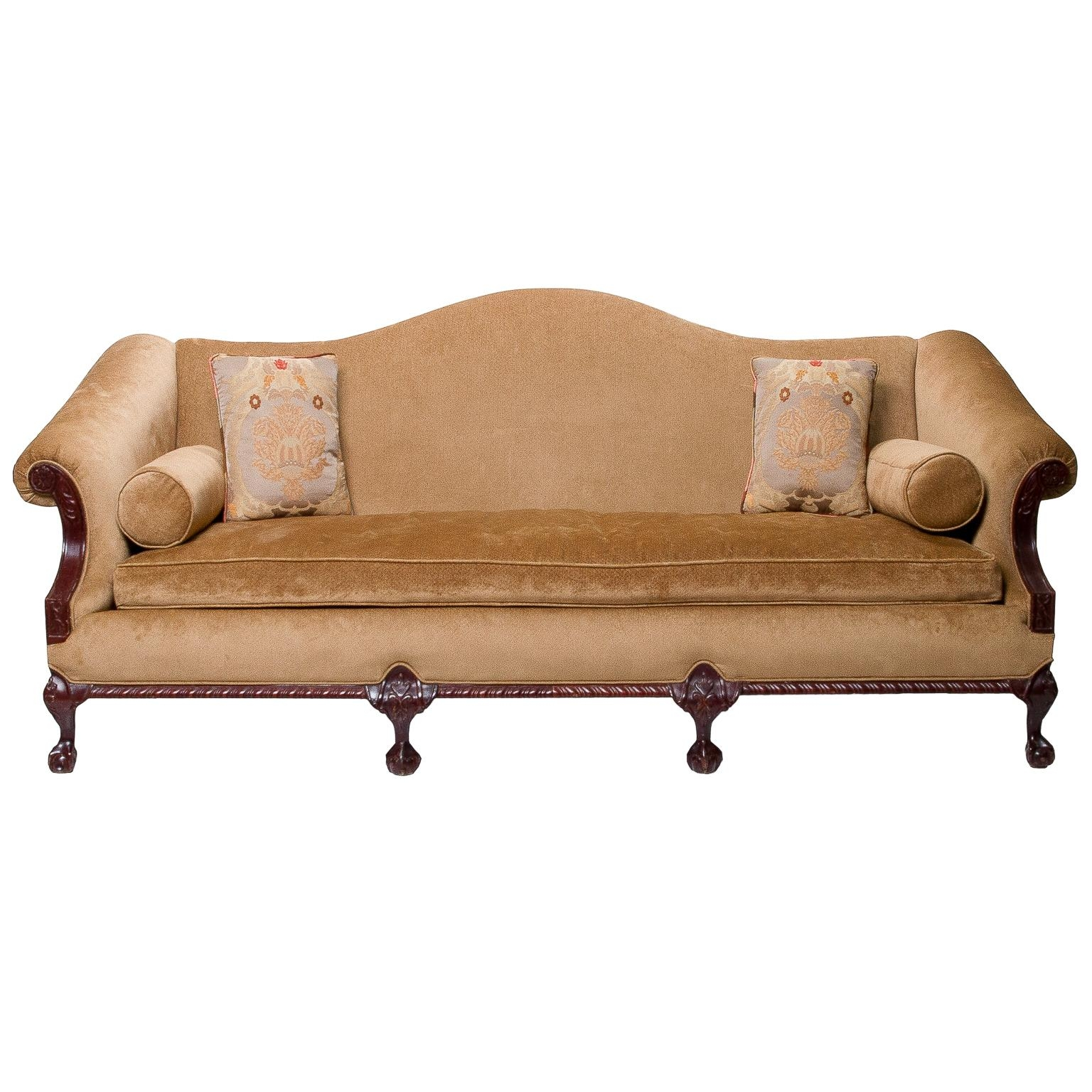 A Vintage Chippendale Camel Back Sofa » Northgate Gallery Antiques Within Chippendale Camelback Sofas (Image 1 of 20)