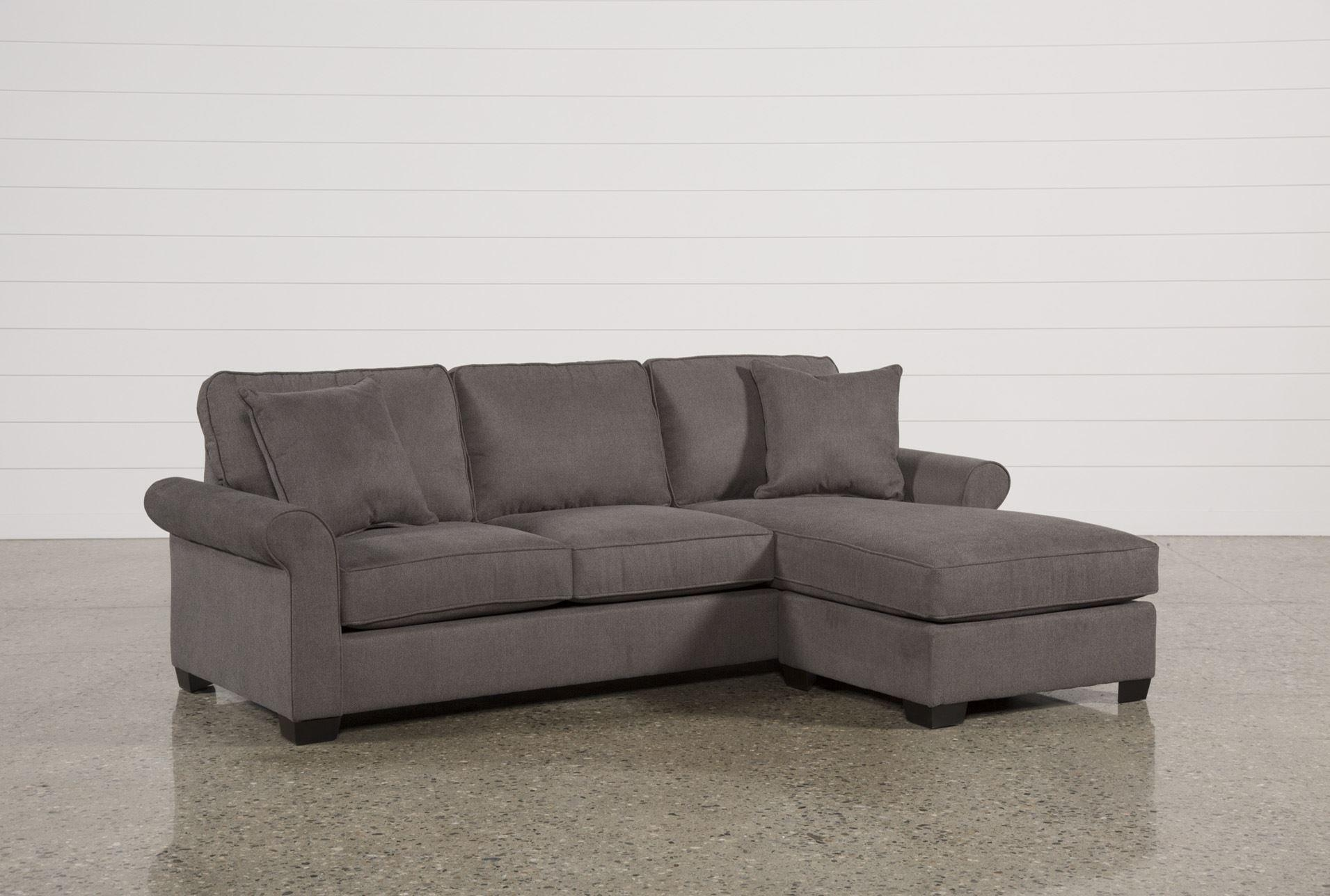 Abbyson Living Bedford Gray Linen Convertible Sleeper Sectional Intended For Abbyson Sectional Sofas (Image 2 of 20)