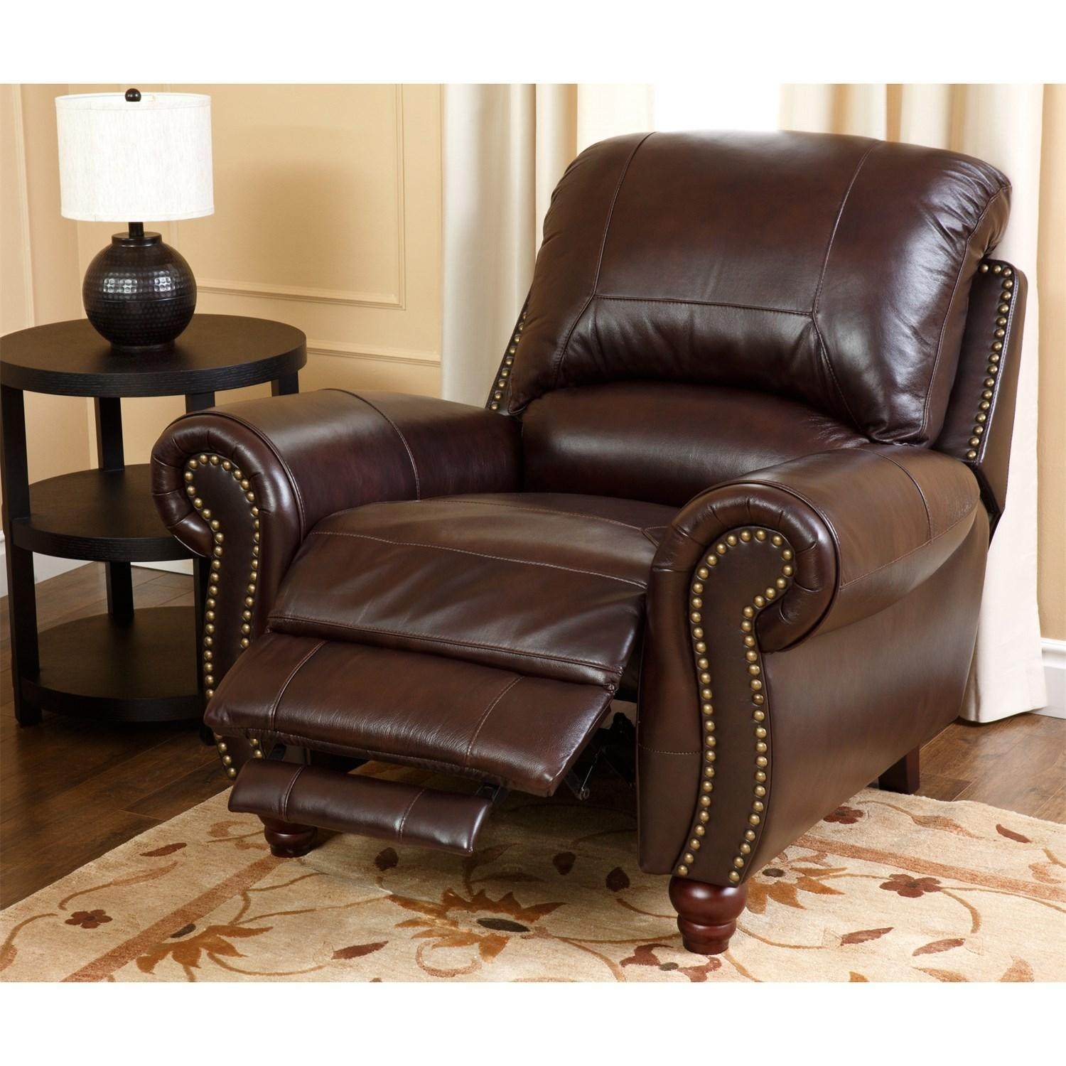 Abbyson Living Ch 8857 Brg 1 Canterbury Leather Pushback Reclining Pertaining To Abbyson Recliners (Image 6 of 20)