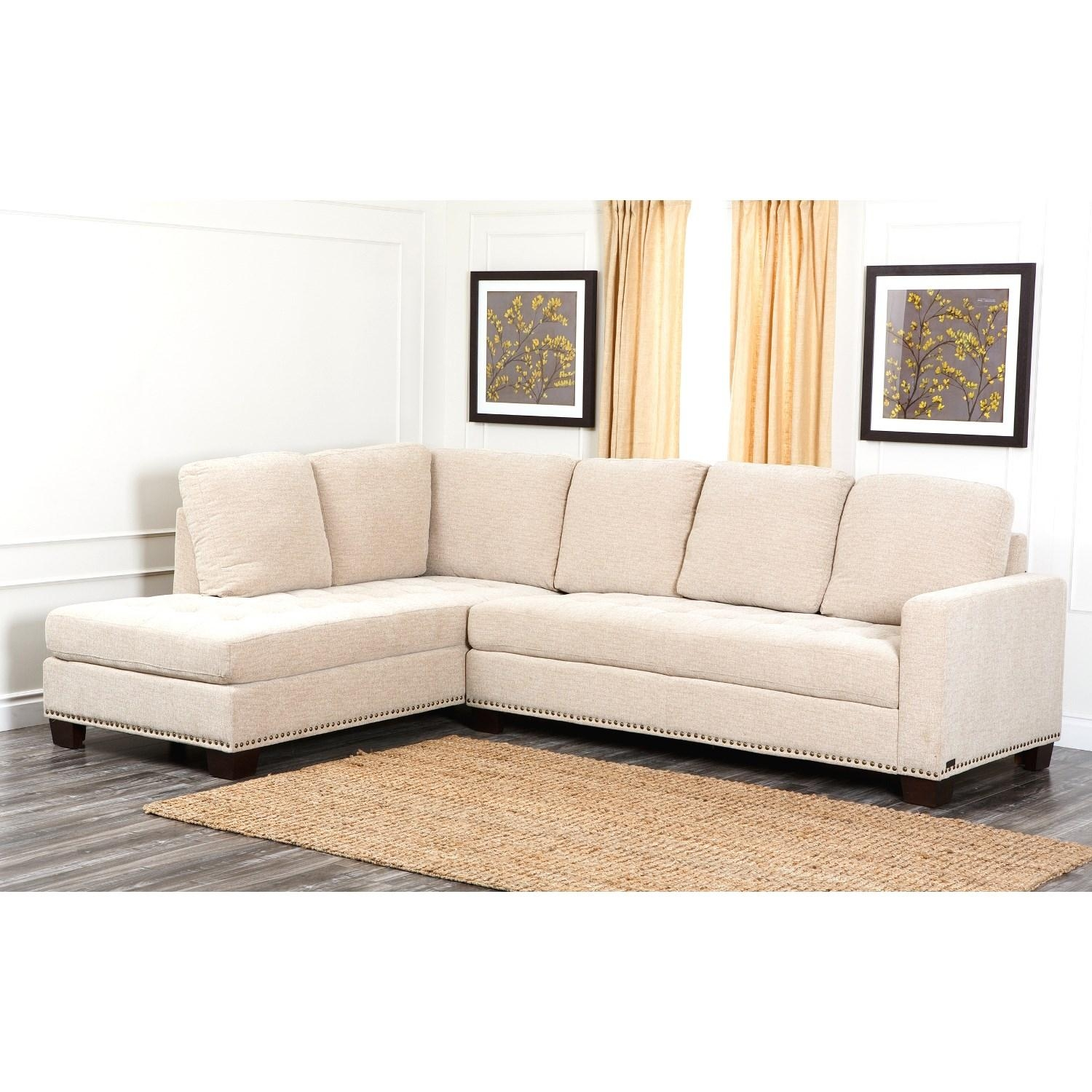 Abbyson Living Ci D10357 Crm Claridge Fabric Sectional In Cream Inside Abbyson Living Sectional (View 2 of 15)
