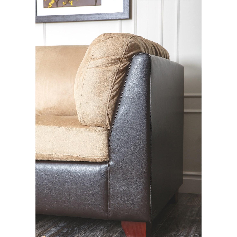Abbyson Living Ci D107 Crm Bailey Sectional Sofa And Ottoman In With Abbyson Living Sectional Sofas (Image 5 of 20)