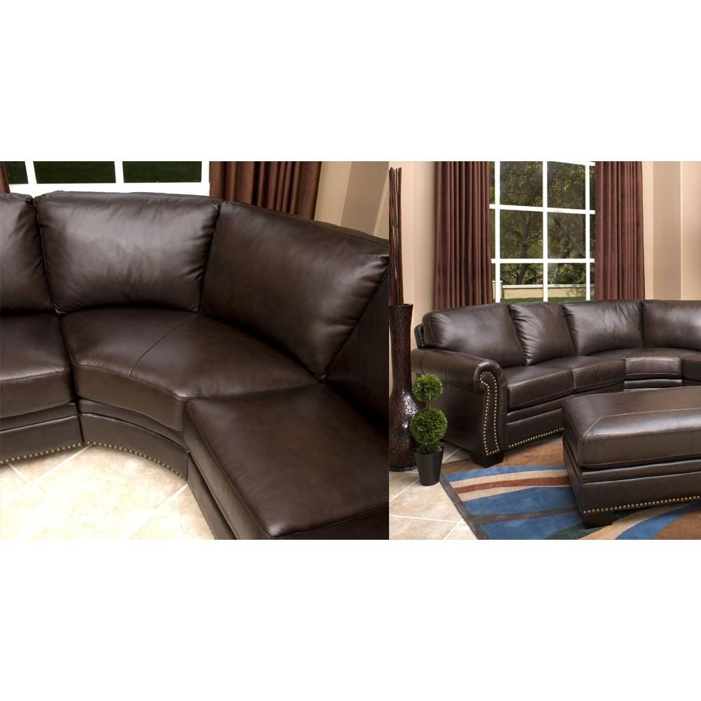 Abbyson Living Ci N410 Brn Oxford Italian Leather Sectional Sofa Pertaining To Abbyson Sectional Sofas (Image 4 of 20)