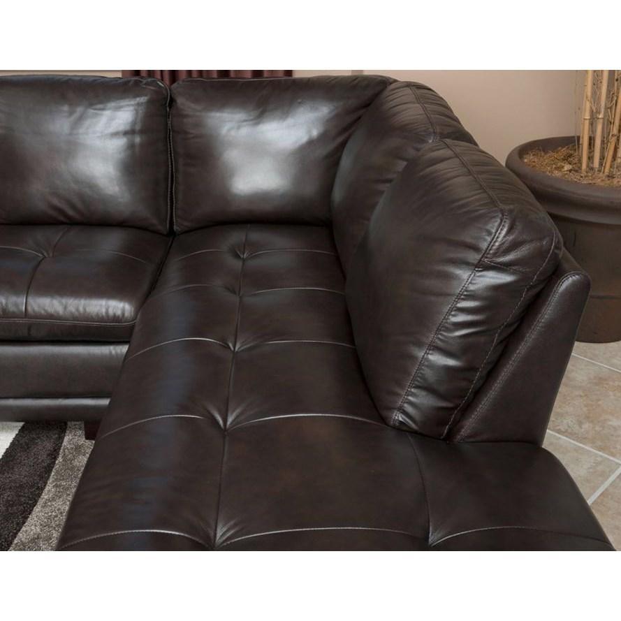Abbyson Living Ci N680 Brn Tivoli Premium Italian Leather Regarding Abbyson Living Sectionals (Image 8 of 15)
