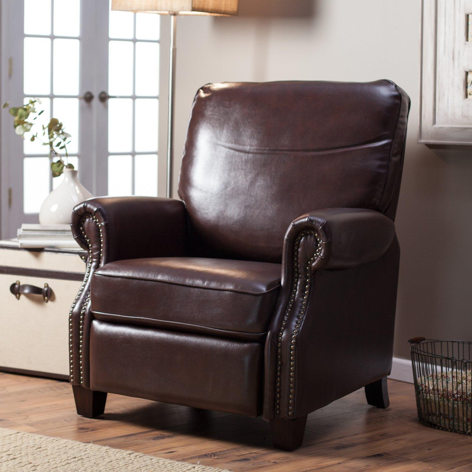 Abbyson Living Lorraine Leather Pushback Recliner | Hayneedle Pertaining To Abbyson Recliners (View 8 of 20)