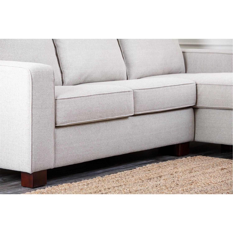 Abbyson Living Rl 1321 Gry Regina Grey Fabric Sectional Sofa Intended For Abbyson Living Sectional Sofas (Image 8 of 20)