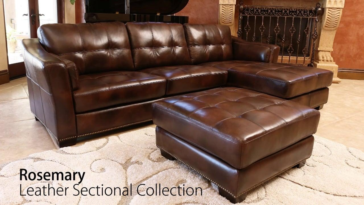 Abbyson Living – Rosemary Leather Sectional Set On Vimeo Regarding Abbyson Living Sectional (View 13 of 15)