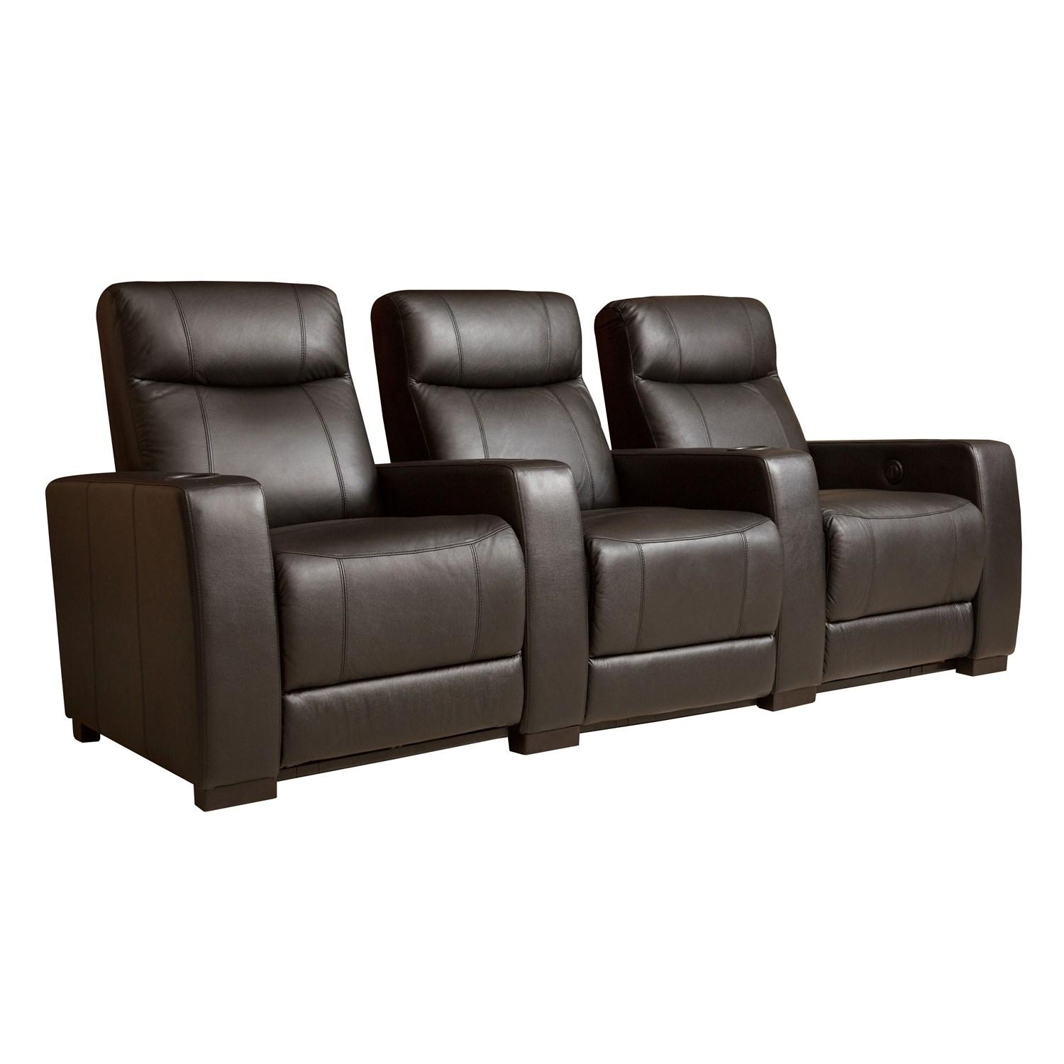 Abbyson Living Sk 1303 Blk Montgomery 3 Piece Top Grain Leather Intended For Abbyson Recliners (View 17 of 20)