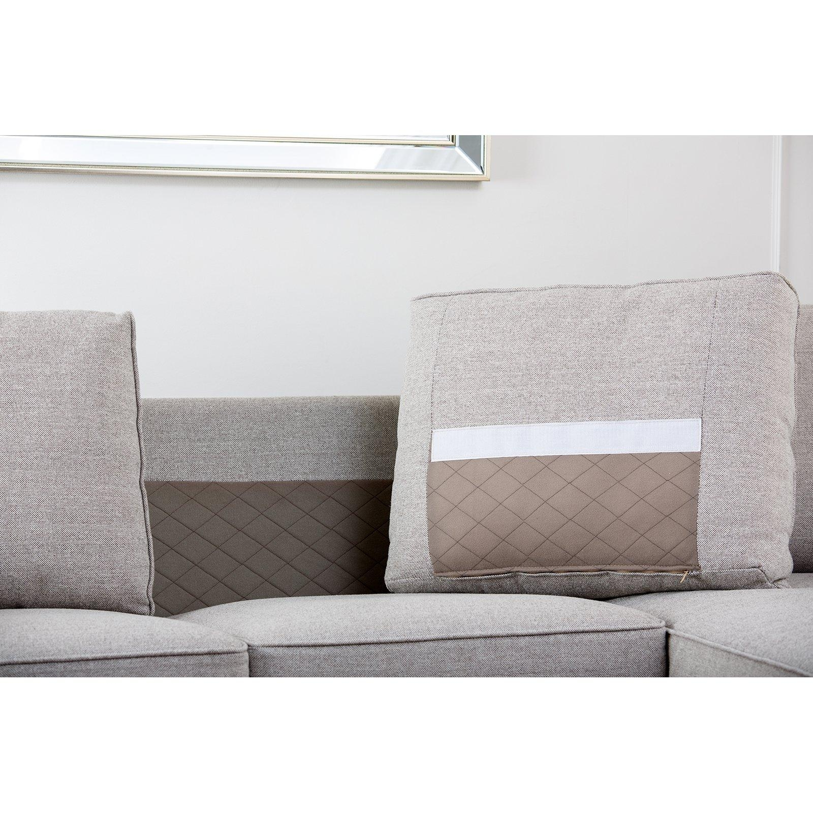 Abbyson Regina Sectional Sofa – Gray | Hayneedle In Abbyson Living Sectional Sofas (Image 10 of 20)