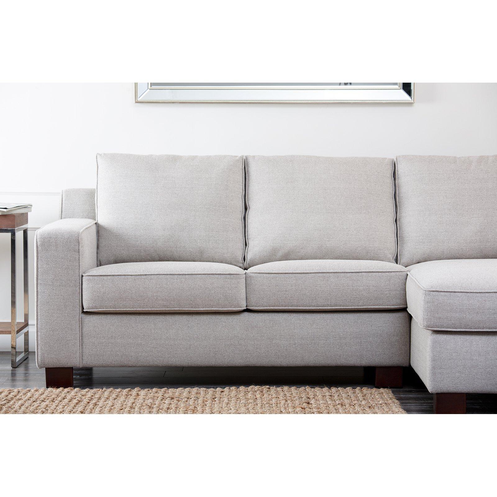 Abbyson Regina Sectional Sofa – Gray | Hayneedle Pertaining To Abbyson Living Sectional Sofas (Image 11 of 20)