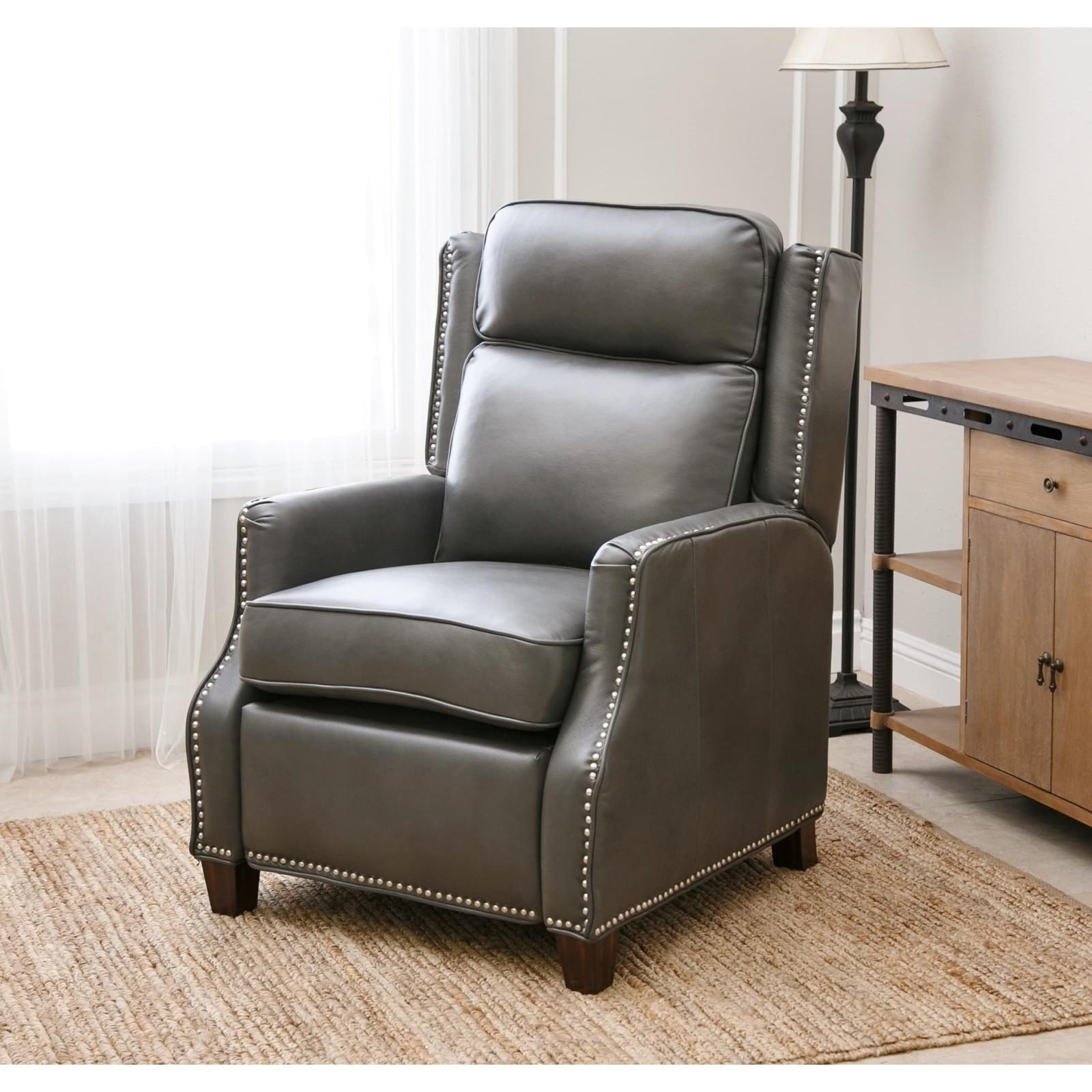 Abbyson Richfield Pushback Leather Recliner | Ebay Within Abbyson Recliners (Image 10 of 20)