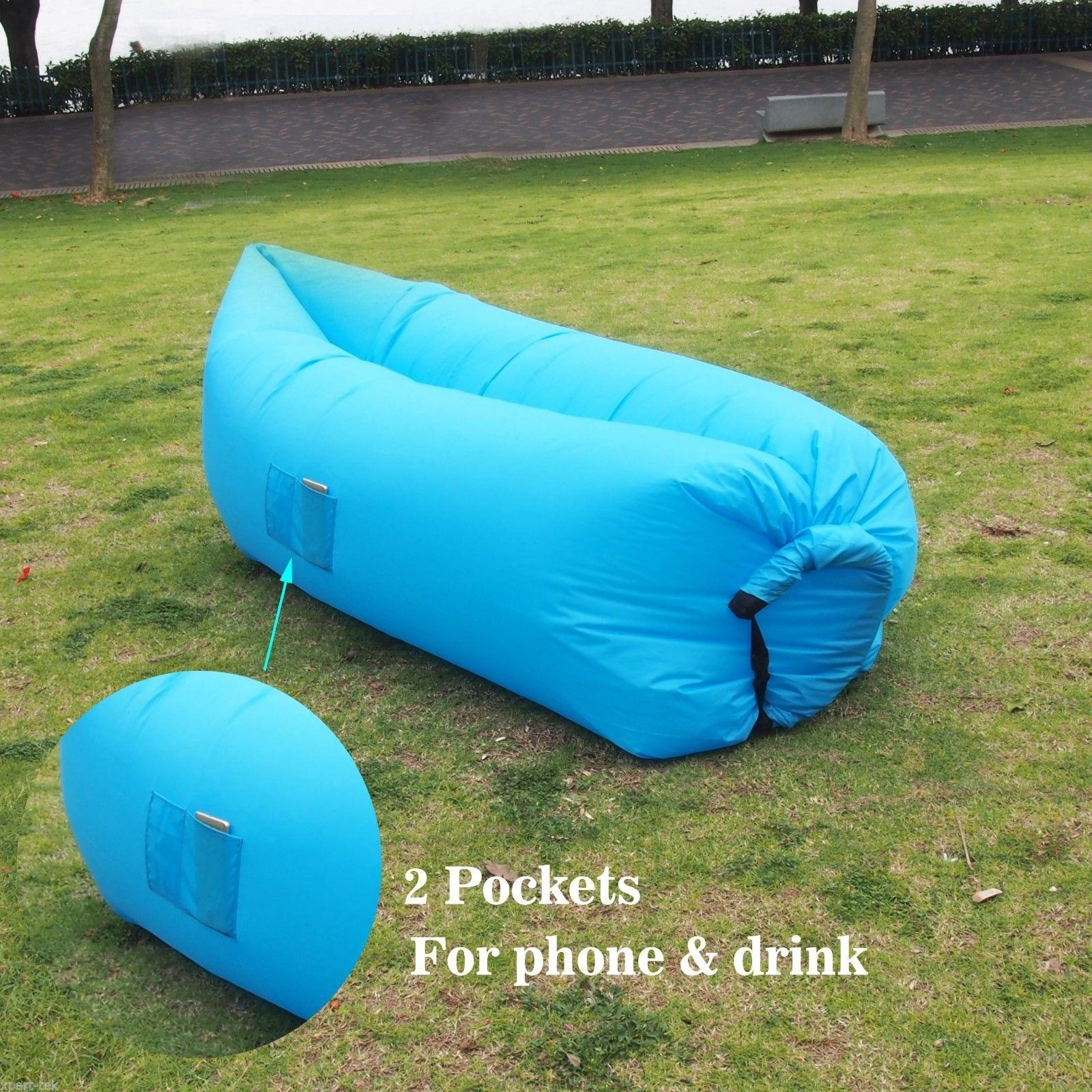 Air Instantly Inflatable Hangout Sofa Sleeping Bag Chair Sofa Bag Pertaining To Sleeping Bag Sofas (View 11 of 20)