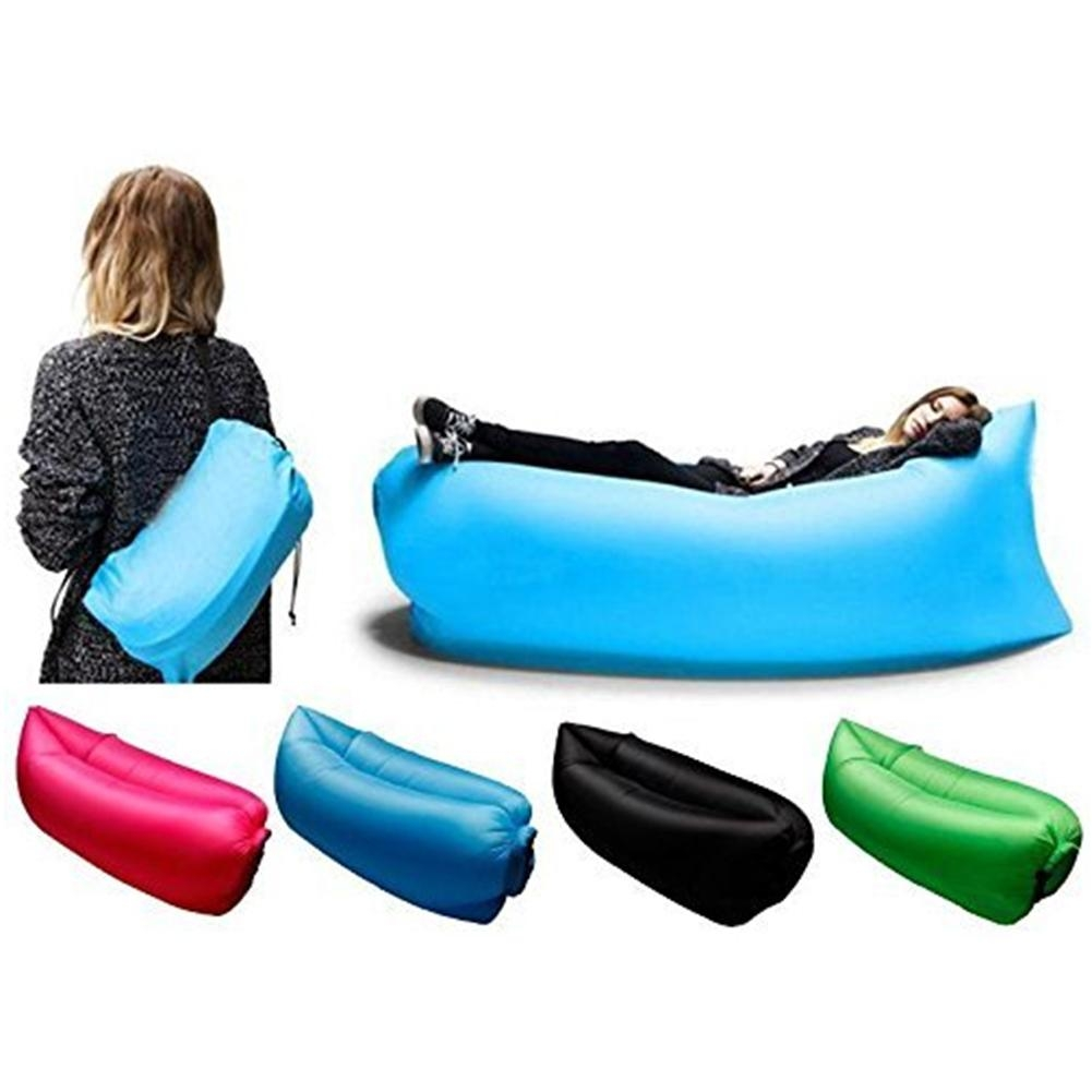 Air Instantly Inflatable Hangout Sofa Sleeping Bag Lounge Chair With Regard To Sleeping Bag Sofas (View 6 of 20)
