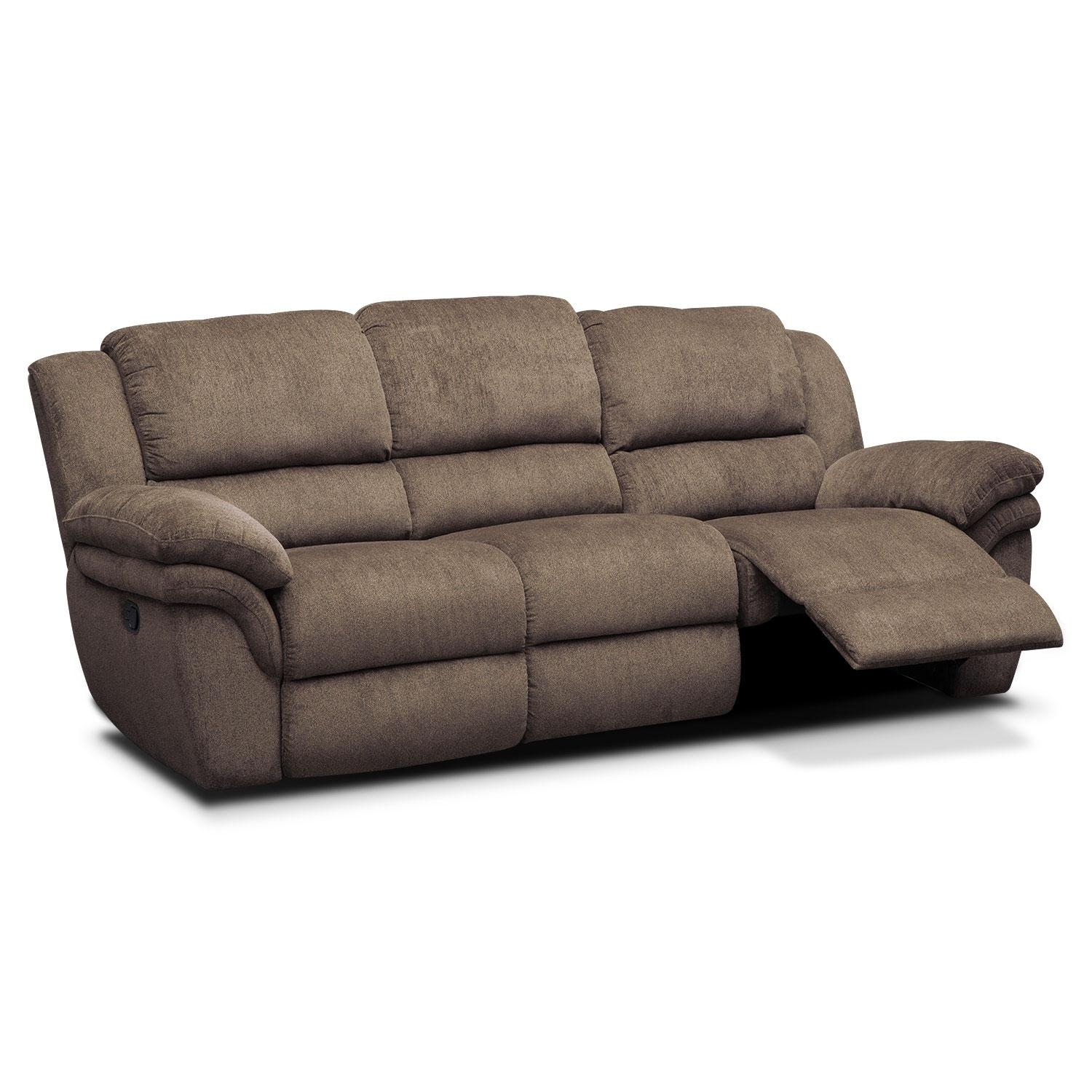 Aldo Manual Reclining Sofa – Mocha | American Signature Furniture In Recliner Sofa Chairs (Image 1 of 20)