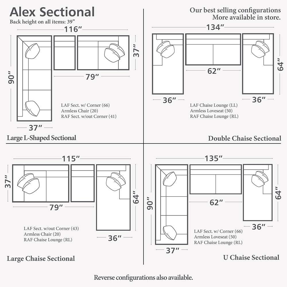 Alex L Shaped Sectional Sofa | Living Room | Bassett Furniture For Small L Shaped Sectional Sofas (Image 1 of 20)