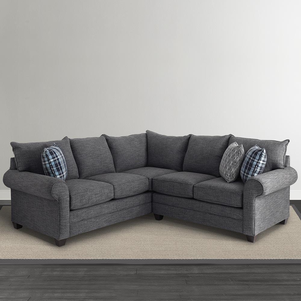 Alex L Shaped Sectional Sofa | Living Room | Bassett Furniture Regarding L Shaped Sectional Sleeper Sofa (View 3 of 20)