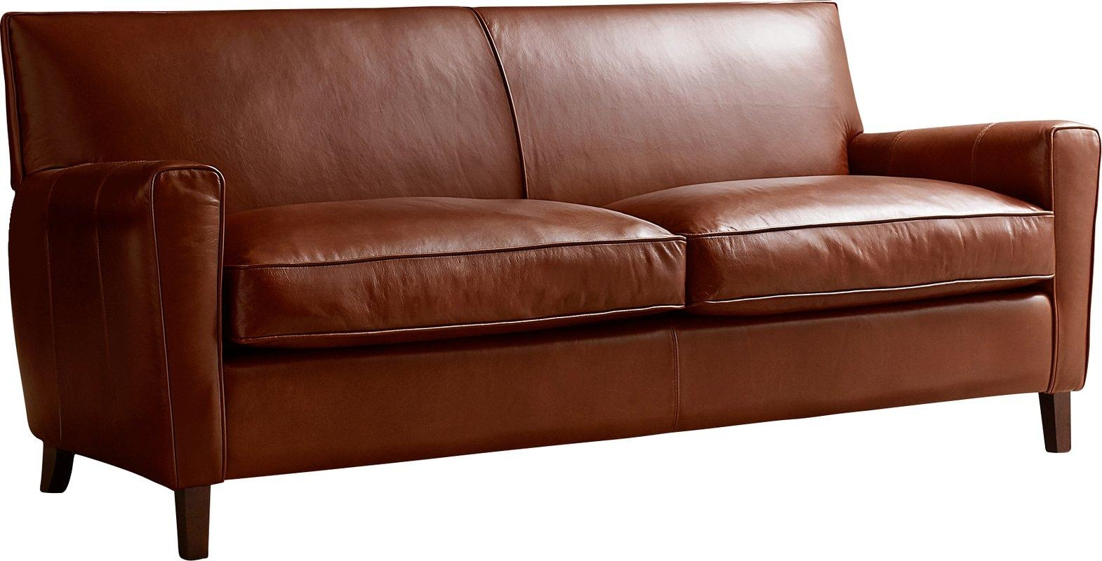 Allmodern Custom Upholstery Foster Leather Sofa & Reviews | Wayfair For Foster Leather Sofas (Image 2 of 20)