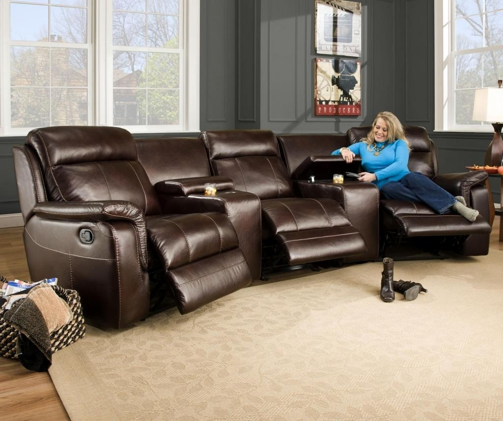Amazing Curved Sectional Recliner Sofas 43 On Sectional Sofa Bed Inside Curved Sectional Sofa With Recliner (Image 1 of 15)