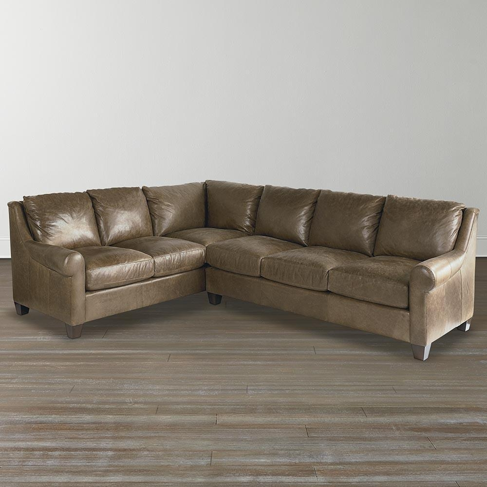 American Casual – Ellery Lg L Shaped Sectional | Bassett Furniture In Custom Leather Sectional (Image 1 of 15)