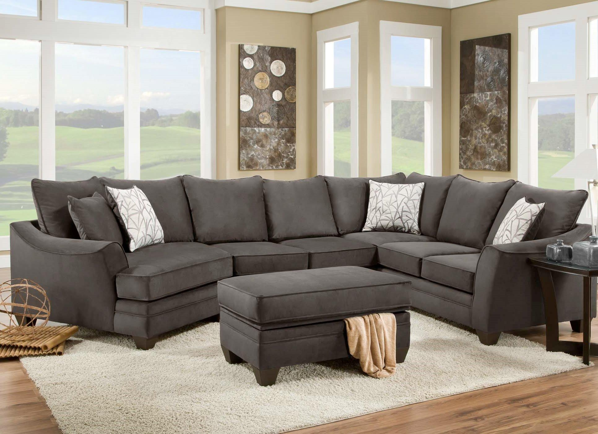 American Furniture 3810 Sectional Sofa That Seats 5 With Left Side With Regard To Sectional Cuddler (Image 1 of 20)