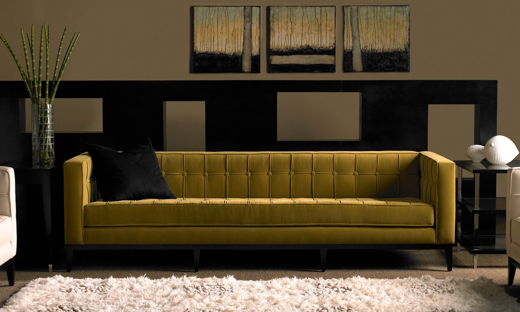 American Leather Luxe Sofa & Ottoman | Modern Design Pertaining To Luxe Sofas (Image 1 of 20)