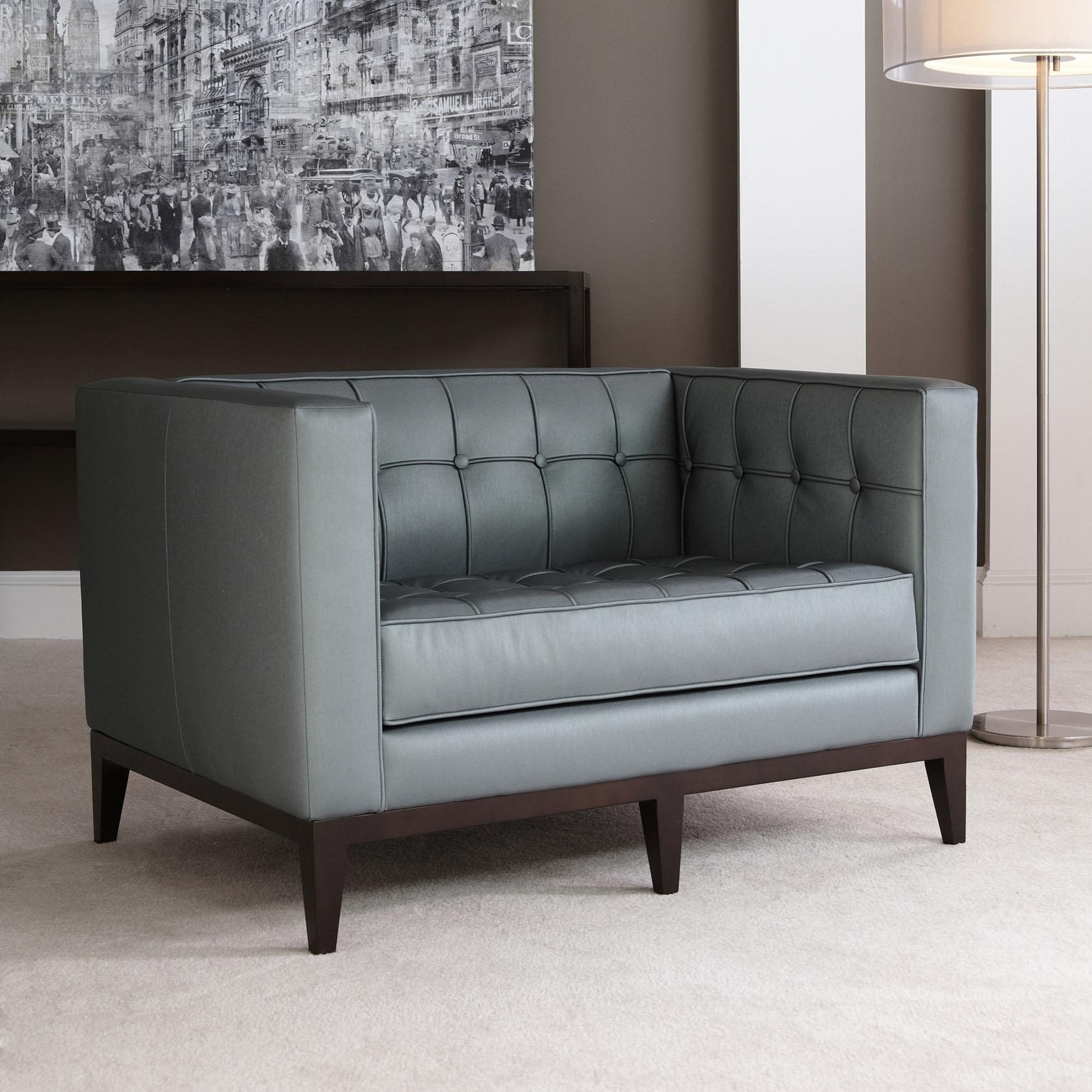 American Leather Luxe Sofa & Ottoman | Modern Design With Regard To Luxe Sofas (Image 3 of 20)