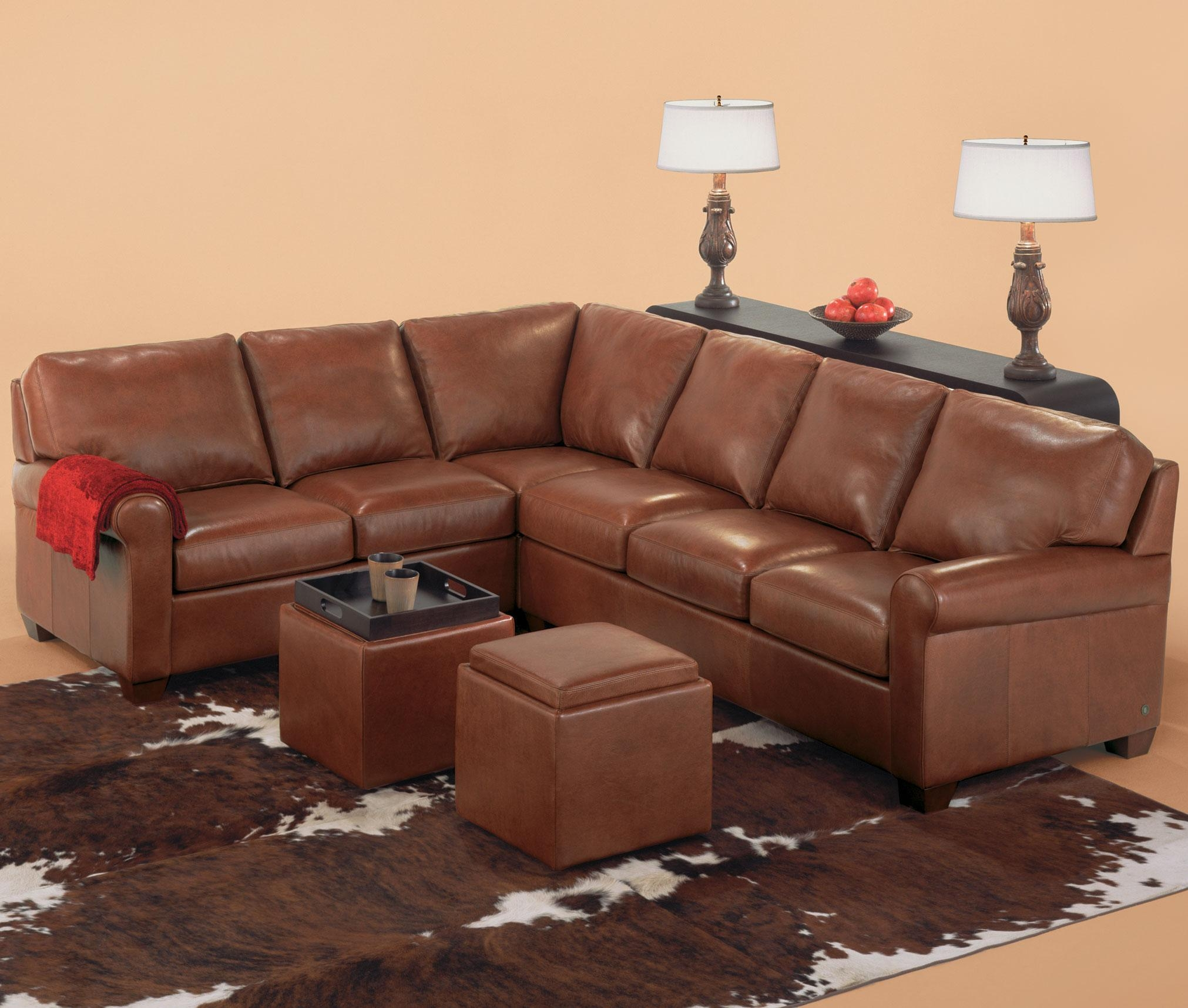 American Leather Savoy Contemporary 3 Piece Sectiona – Saugerties For Savoy Leather Sofas (View 11 of 20)