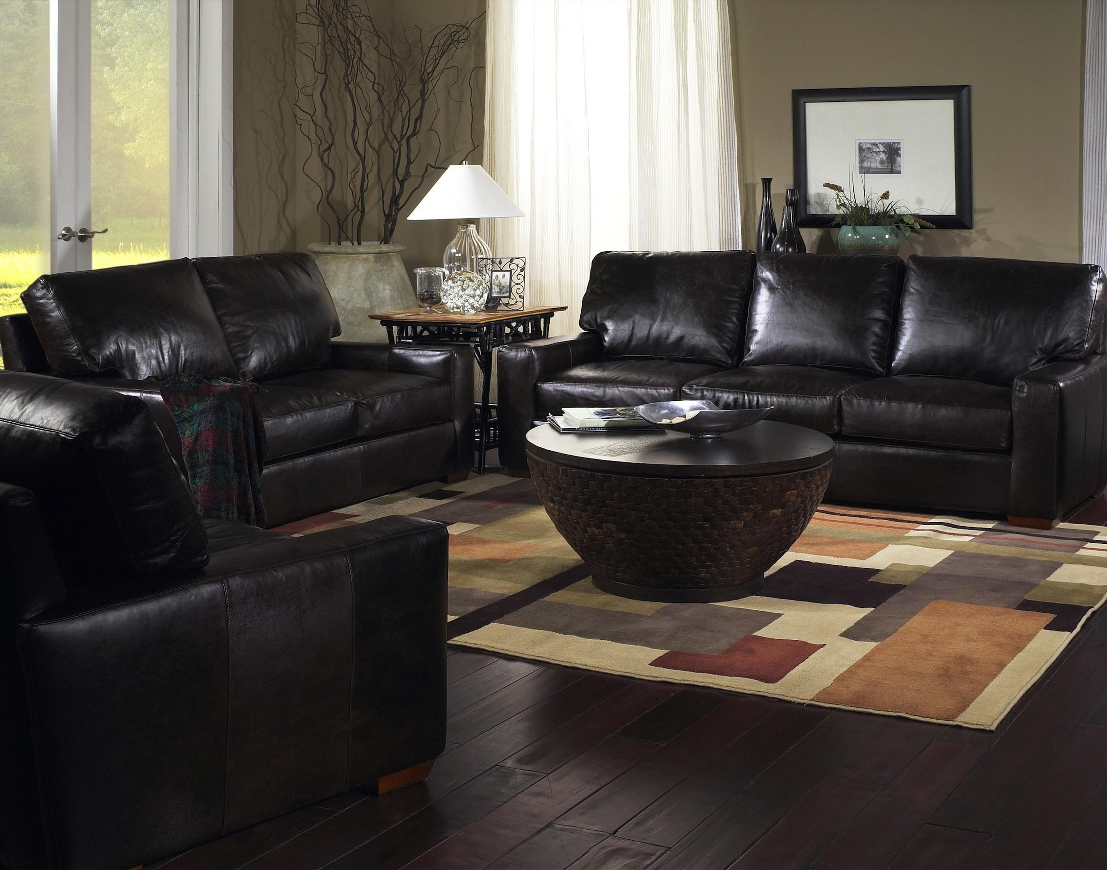 American Made Leather 4877 Leather Sofa – Los Angeles Furniture Online Intended For Brompton Leather Sectional Sofas (Image 2 of 20)