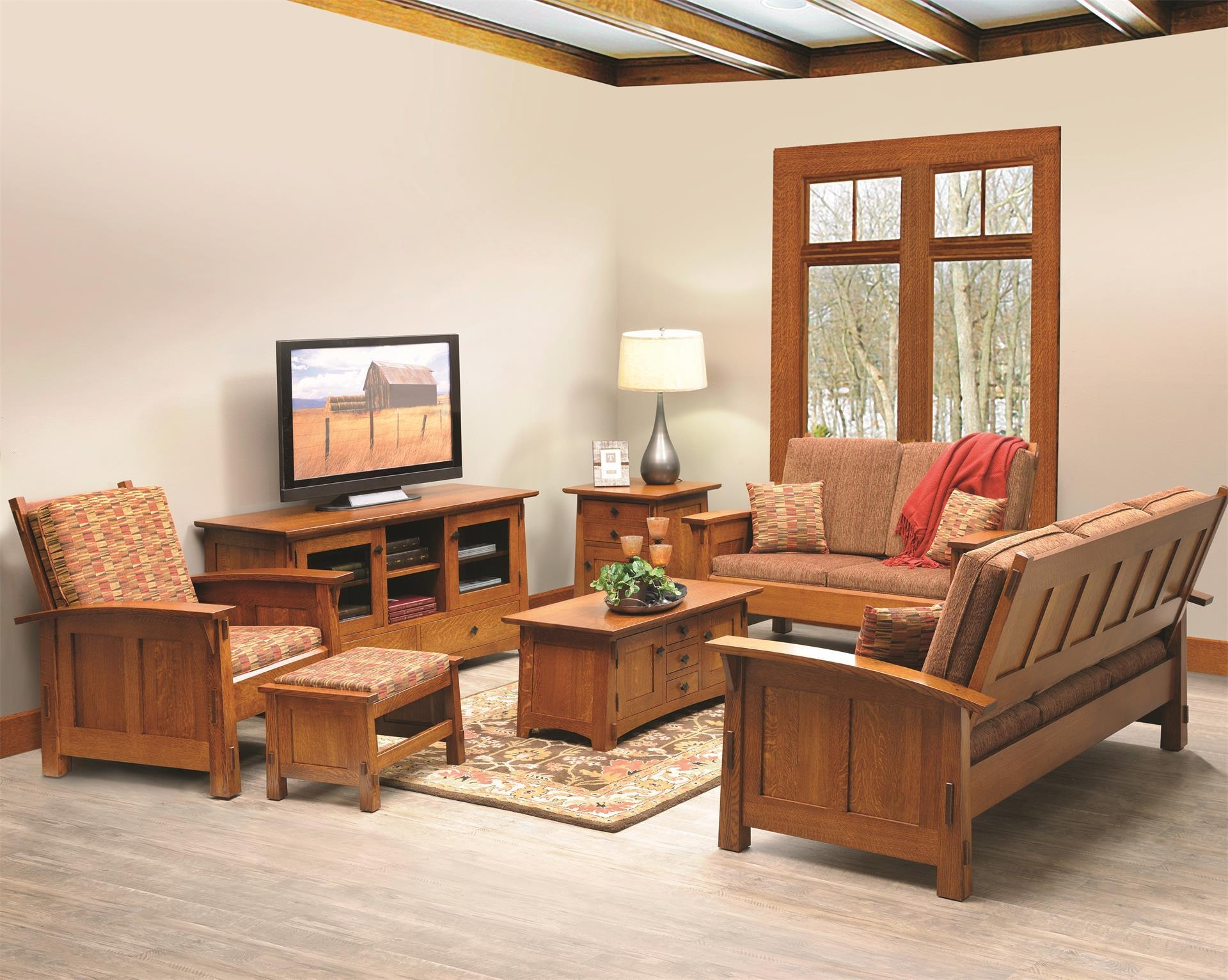 Amish Goshen Shaker Lounge Chair In Shaker Sofas (Image 2 of 20)