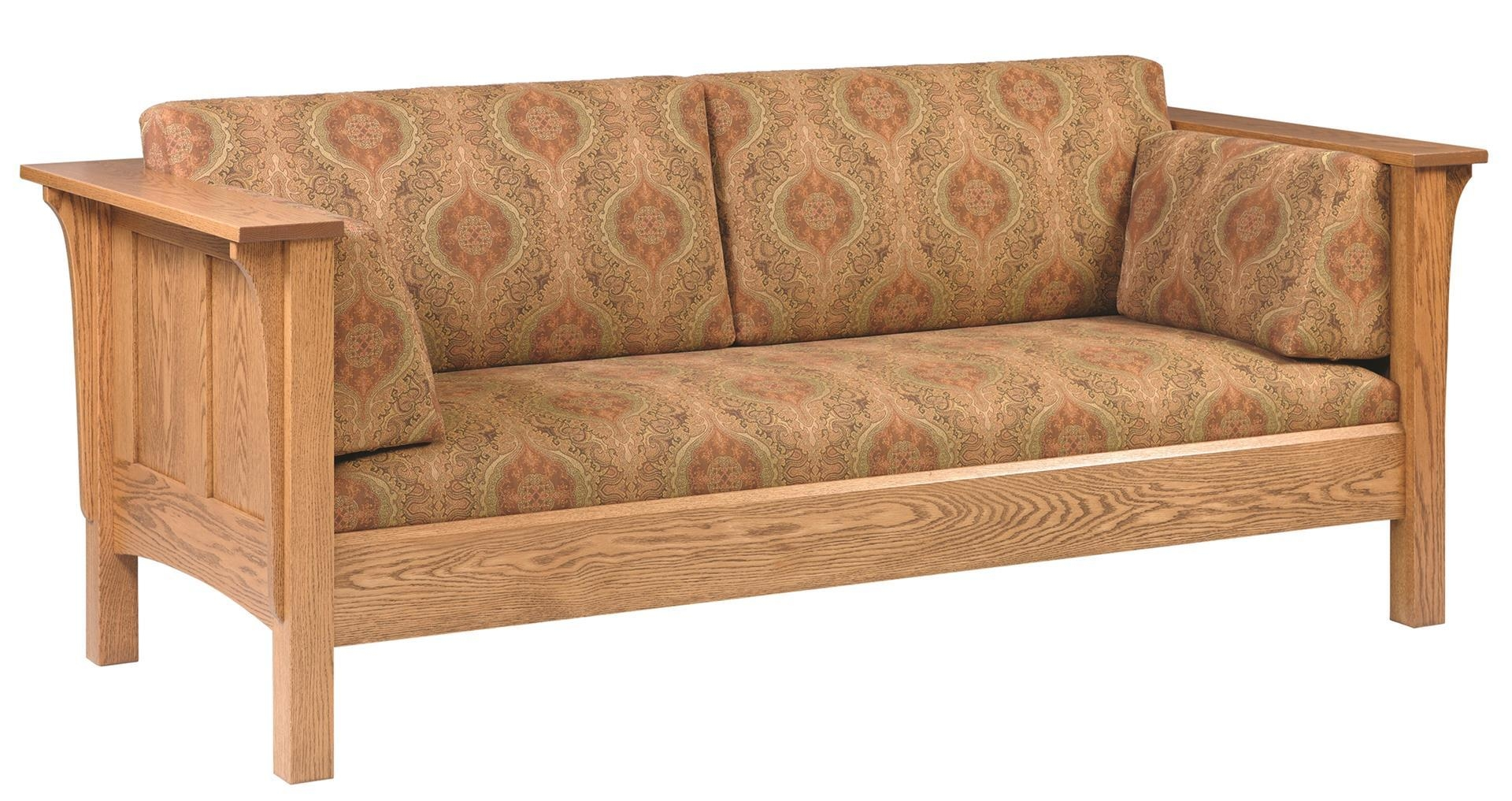 Amish Sofa – Gallery Image Serenityrealm Throughout Shaker Sofas (Image 3 of 20)