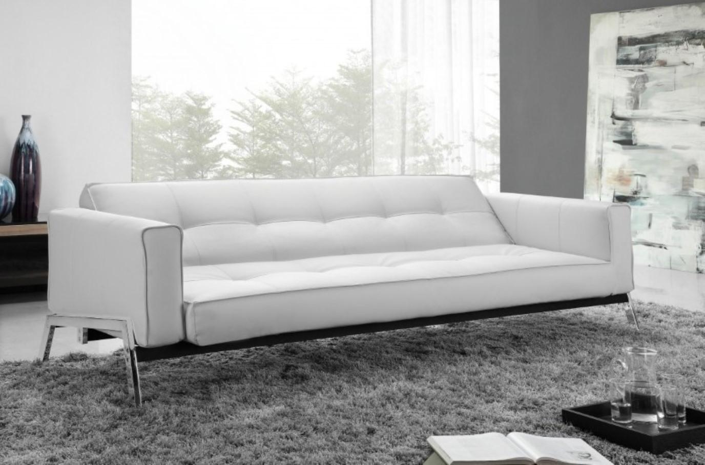Amusing White Modern Sofa Studio Leather Whitebw595Bh595 Sofa Throughout White Modern Sofas (Image 1 of 20)