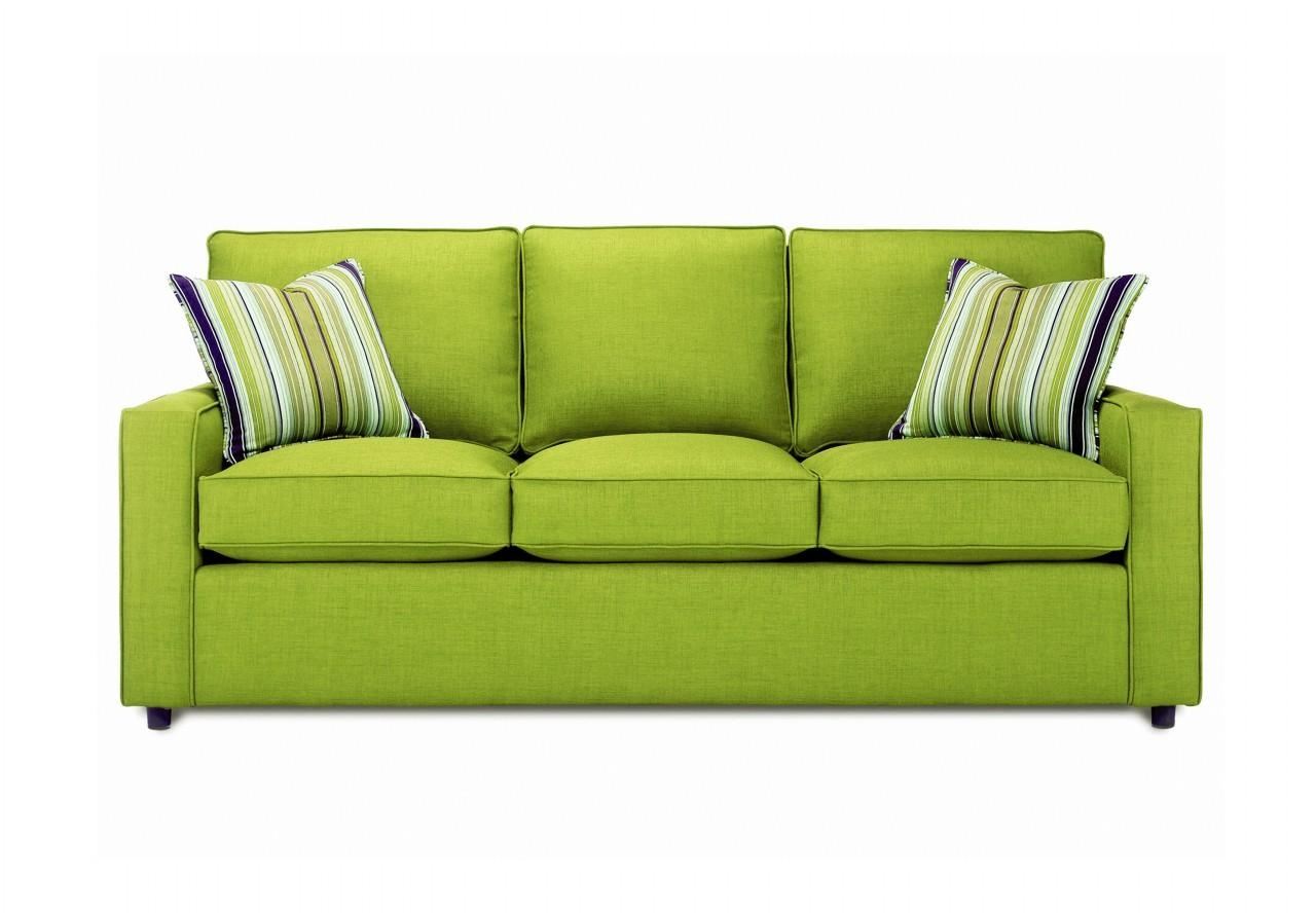 An Image Ofmodern Living Room With Brown Table And Green Modern Regarding Green Sofas (Image 1 of 20)