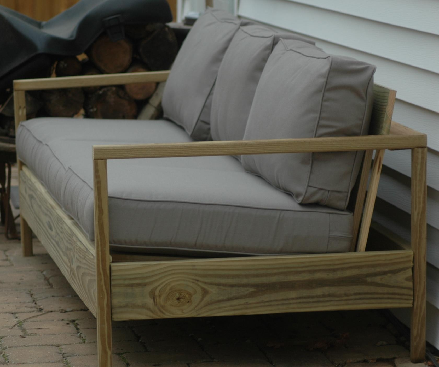 Ana White | 84' Patio Sofa – Diy Projects For Ana White Outdoor Sectional Sofas (View 19 of 20)