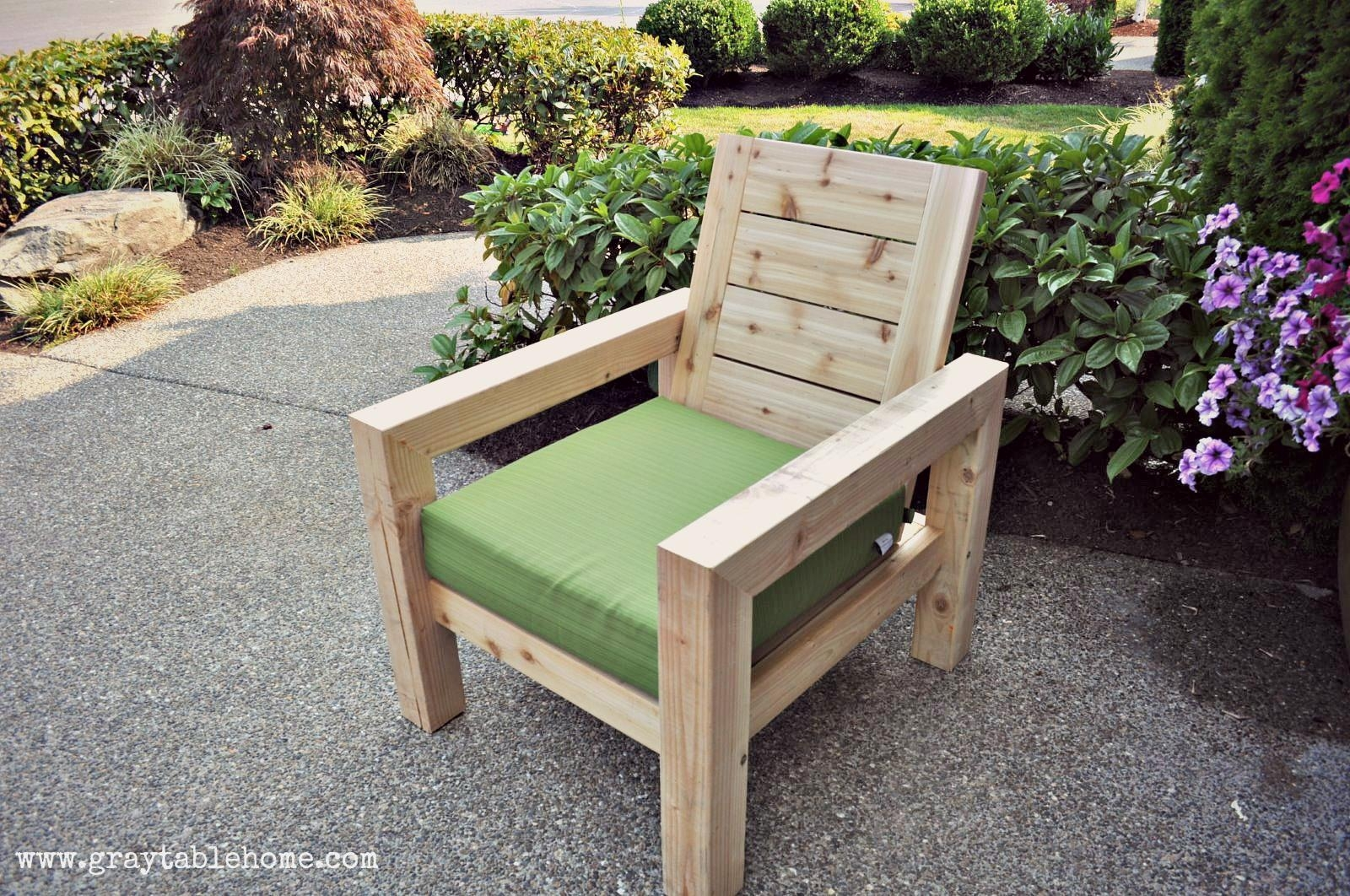 Ana White | Diy Modern Rustic Outdoor Chair – Diy Projects Regarding Ana White Outdoor Sofas (View 8 of 20)