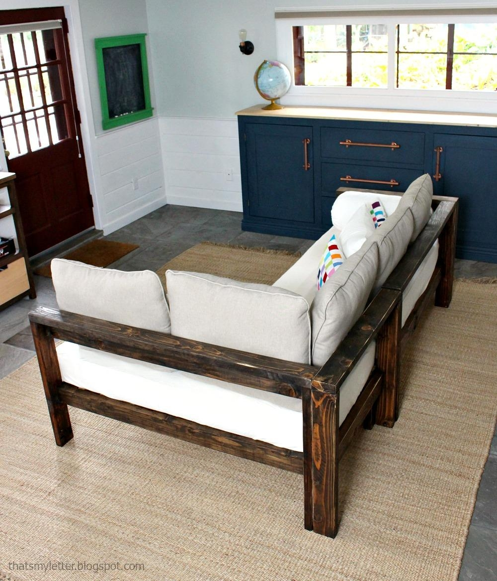 Ana White | Kids Couch – 2X4 Diy Sectional With Crib Mattress Regarding Sofas Mattress (Image 2 of 20)
