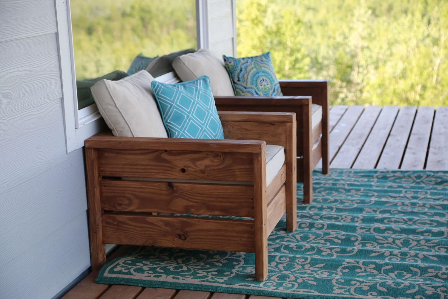Ana White | Modern Outdoor Chair From 2X4S And 2X6S – Diy Projects Inside Ana White Outdoor Sofas (Image 2 of 20)