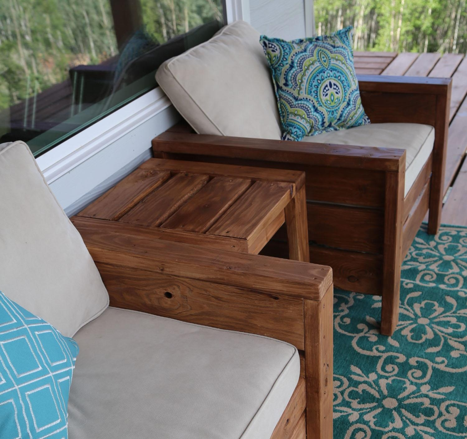 Ana White | Modern Outdoor Chair From 2X4S And 2X6S – Diy Projects Pertaining To Ana White Outdoor Sofas (Image 3 of 20)
