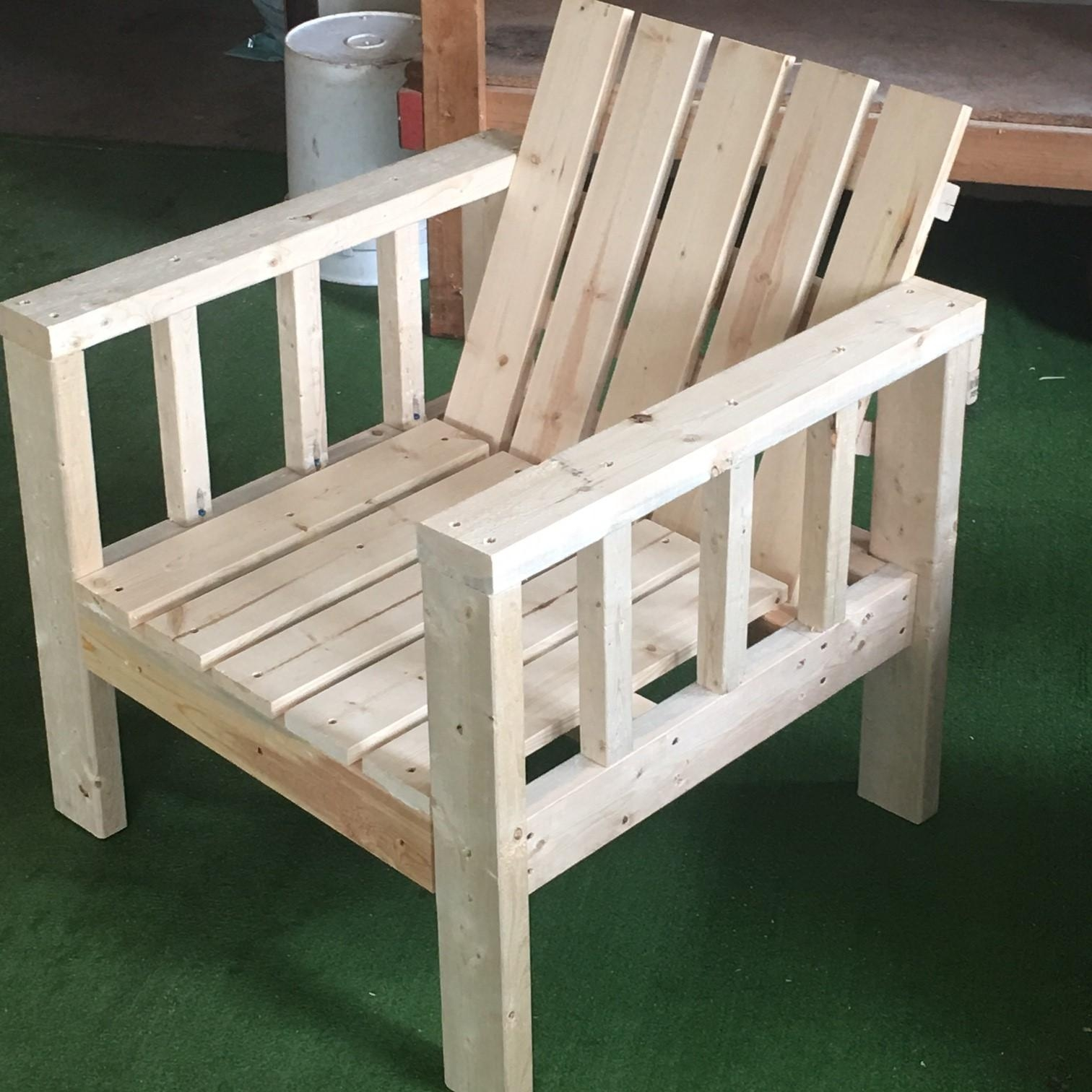 Ana White | My Simple Outdoor Lounge Chair With 2X4 Modification With Ana White Outdoor Sofas (Image 4 of 20)