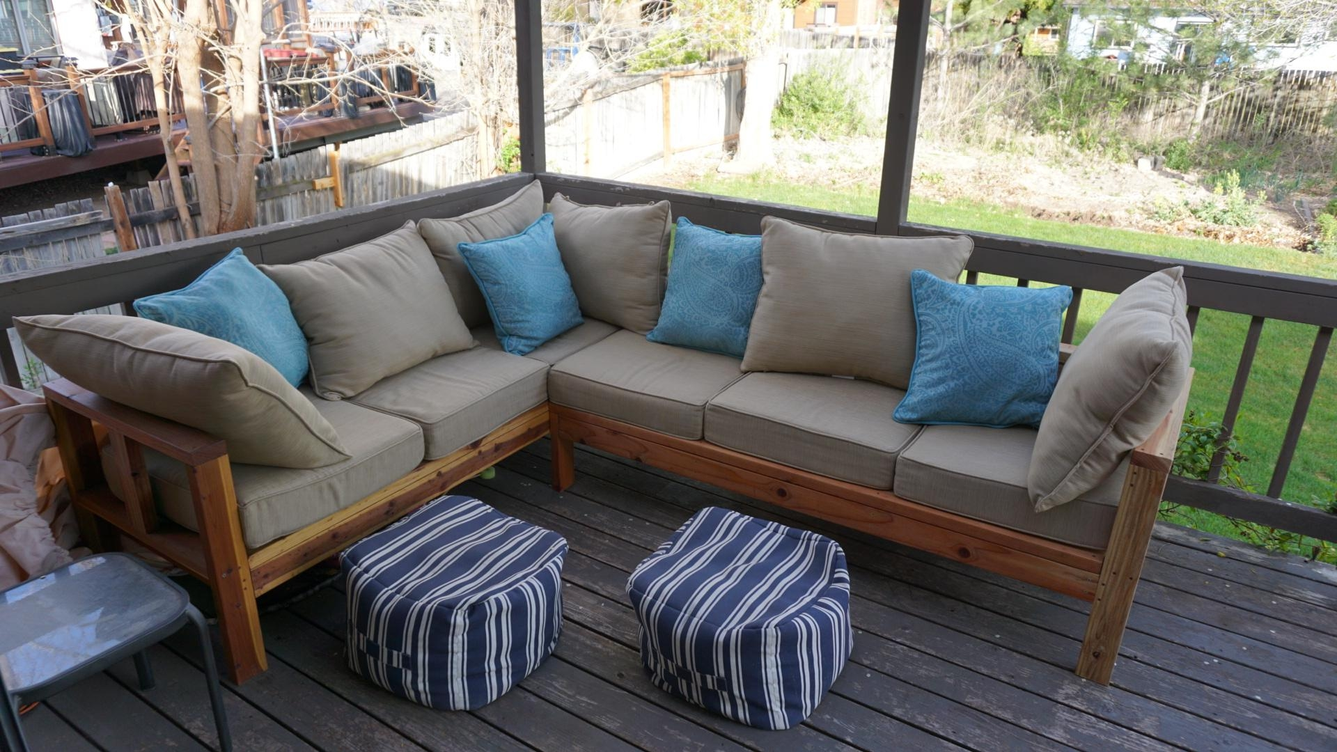 Ana White | Outdoor Sectional Couch – Diy Projects In Ana White Outdoor Sectional Sofas (View 7 of 20)