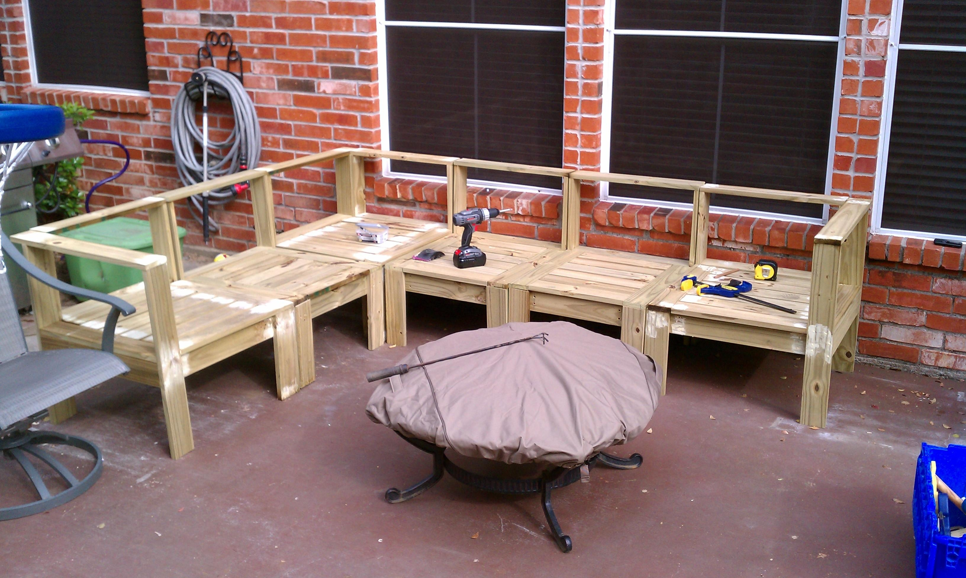 Ana White | Outdoor Sectional – Diy Projects Intended For Ana White Outdoor Sectional Sofas (View 10 of 20)
