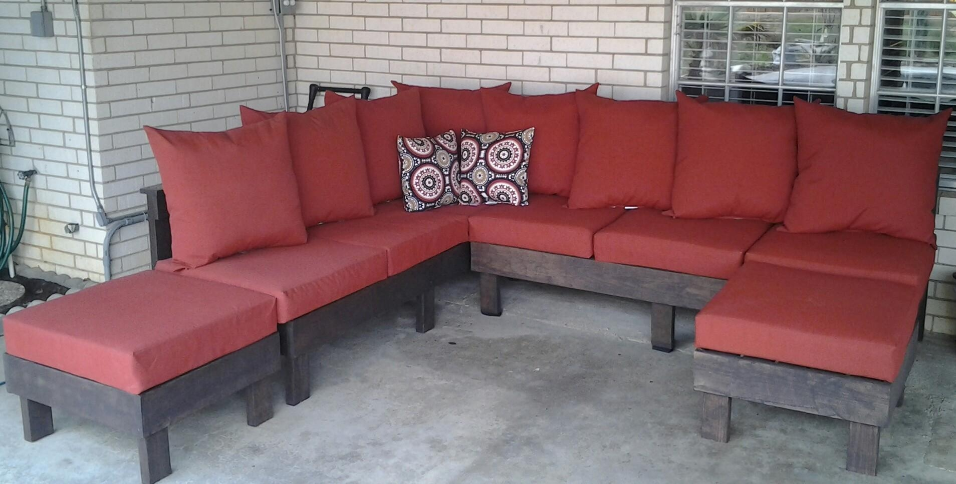 Ana White | Outdoor Sectional – Diy Projects Throughout Ana White Outdoor Sectional Sofas (View 8 of 20)