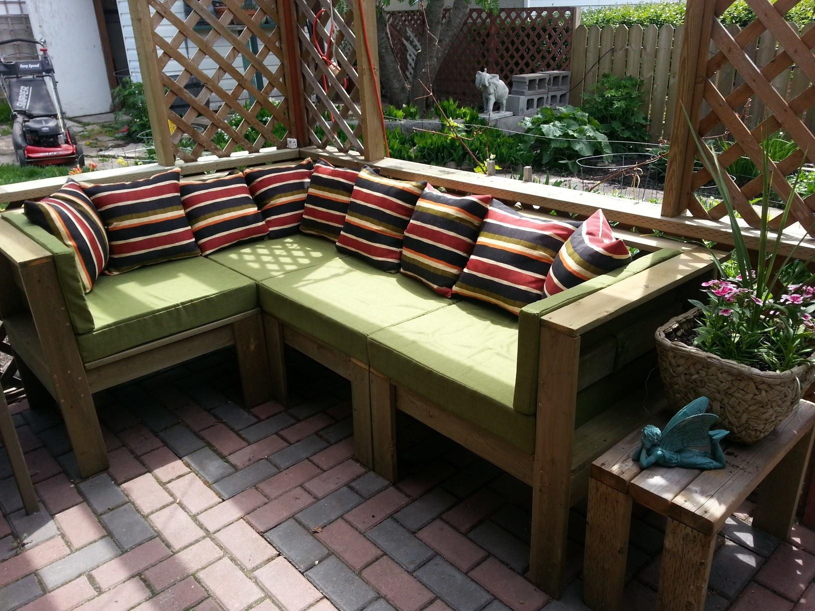 Ana White | Outdoor Sectional – Diy Projects With Ana White Outdoor Sofas (View 13 of 20)