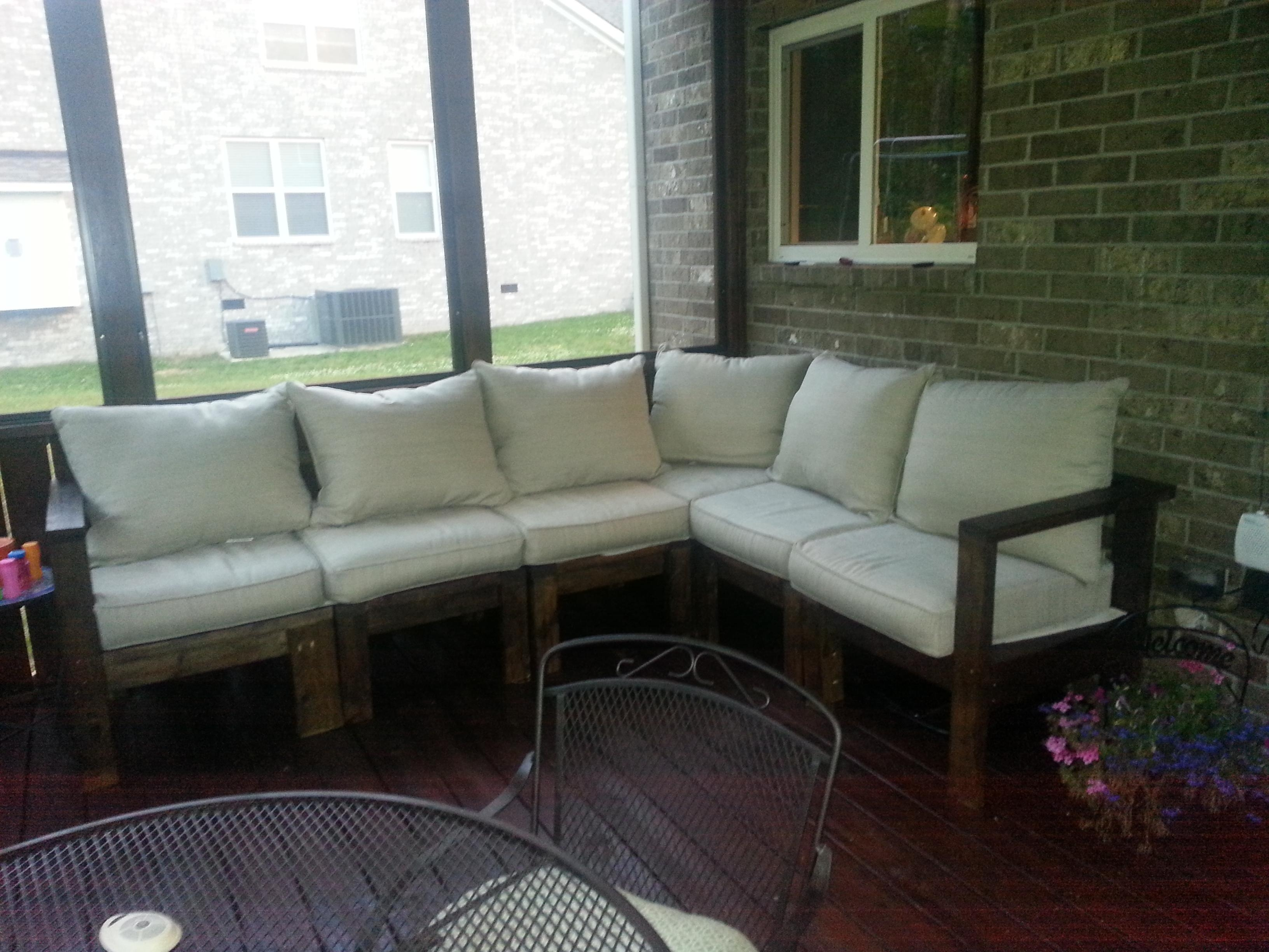 Ana White | Outdoor Sectional Sofa – Diy Projects For Ana White Outdoor Sectional Sofas (View 20 of 20)