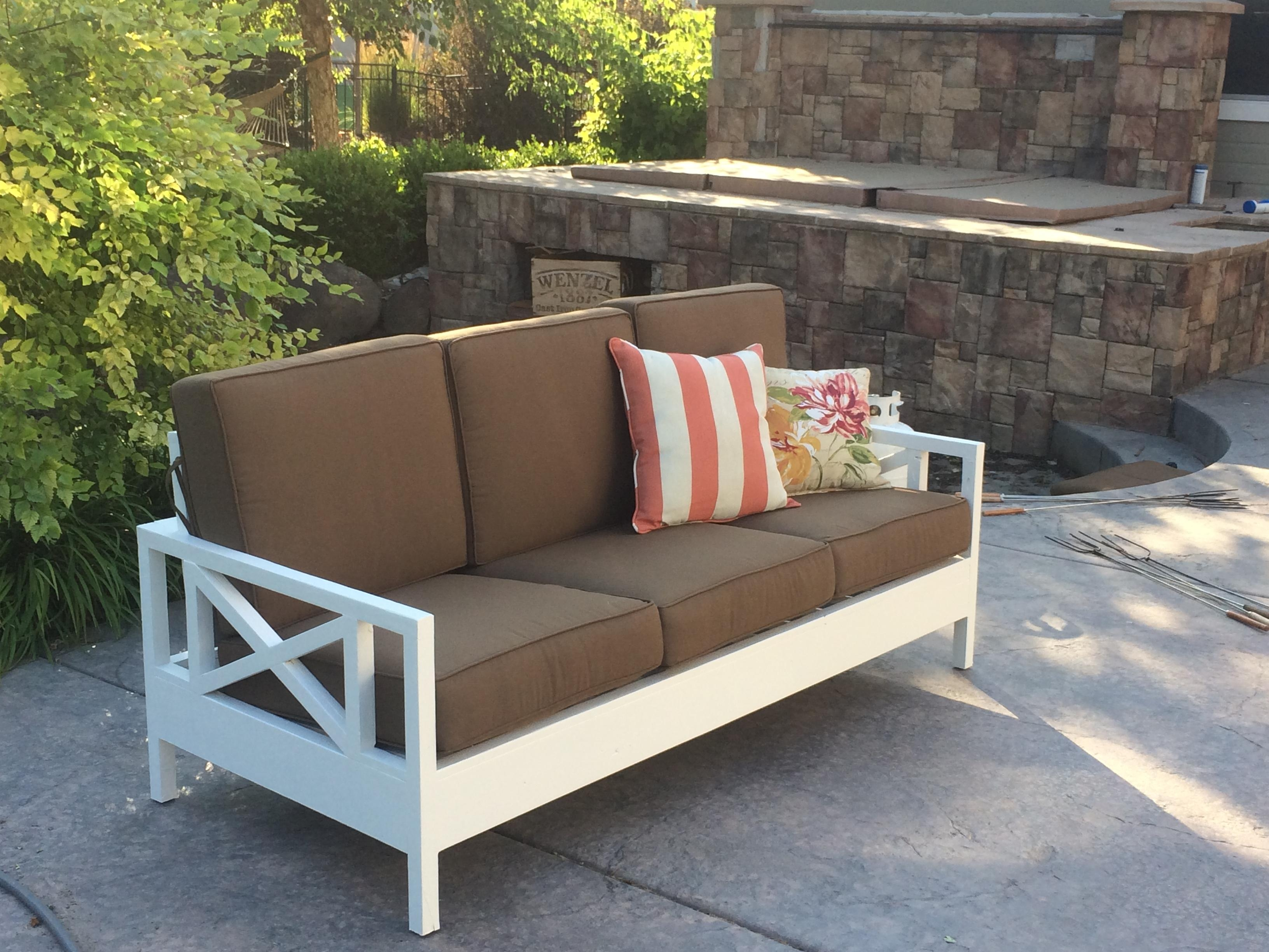 Ana White | Outdoor Sofa Mash Up – Diy Projects Regarding Ana White Outdoor Sofas (Image 9 of 20)